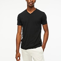 Image 1 for Tall slim washed jersey V-neck T-shirt