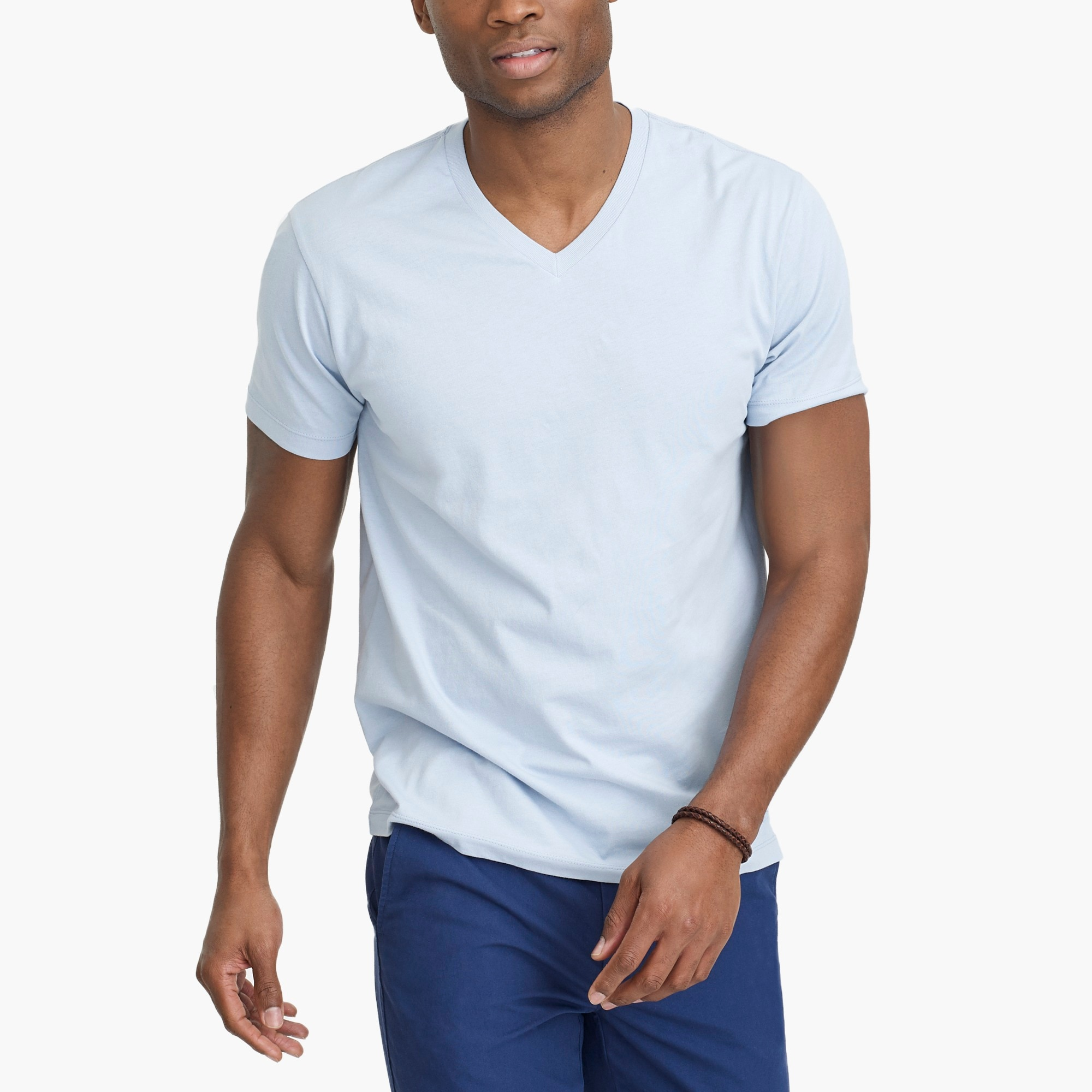 factory mens Slim Broken-in V-neck T-shirt