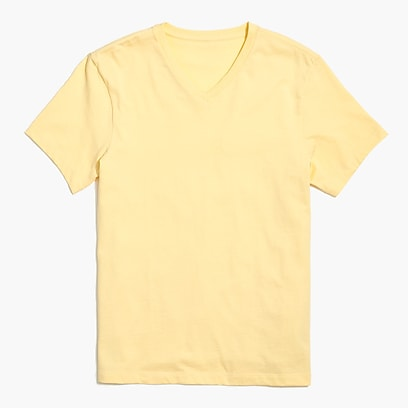 Slim washed jersey V-neck T-shirt