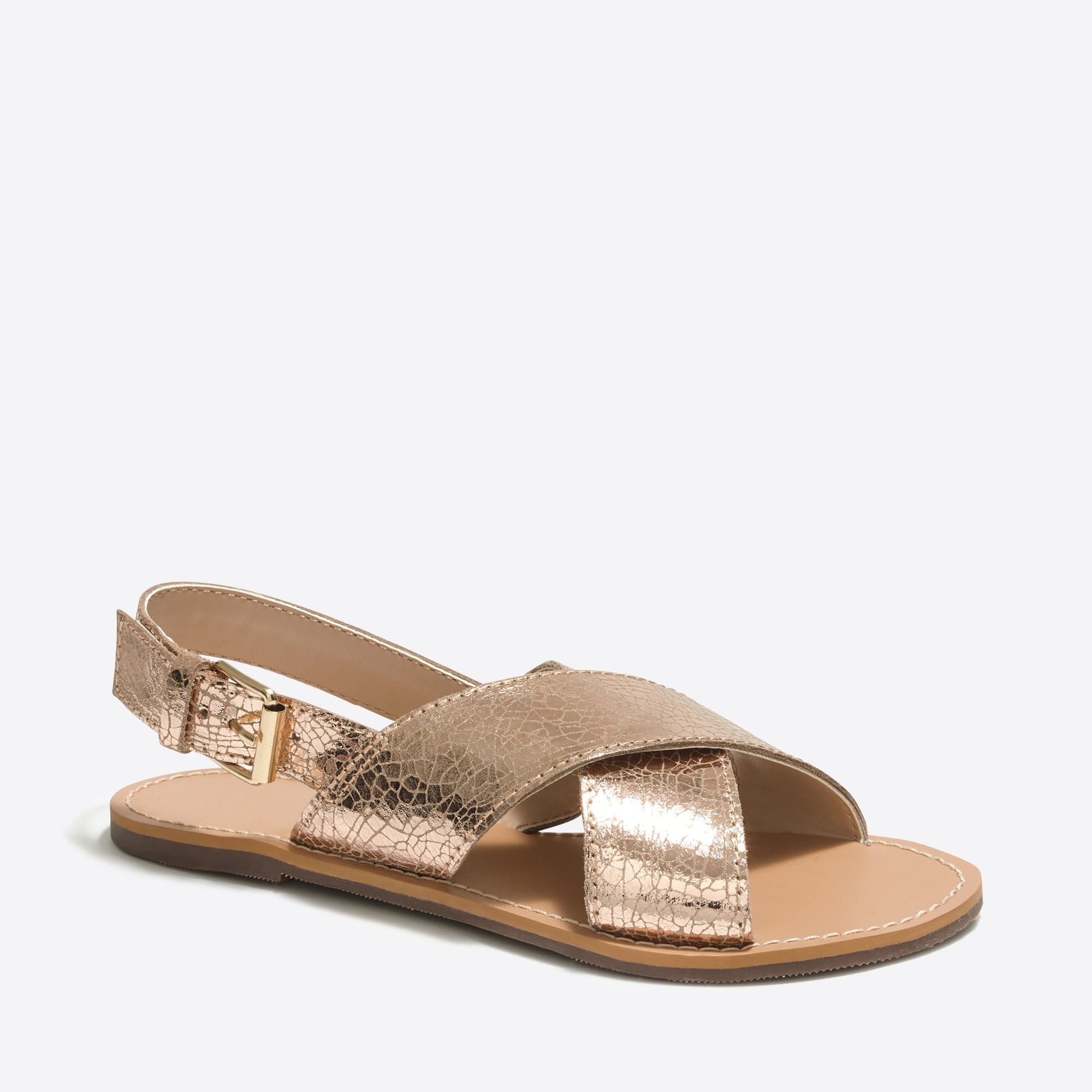 girls' metallic sandals : factorygirls shoes