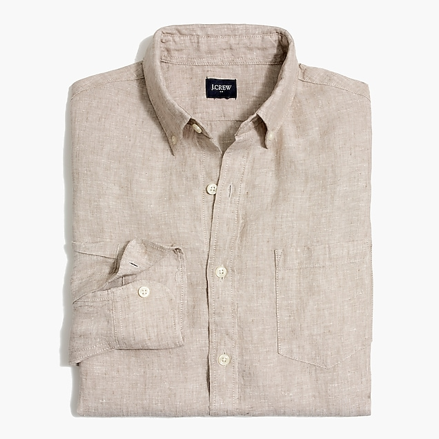 j.crew factory: slim linen shirt