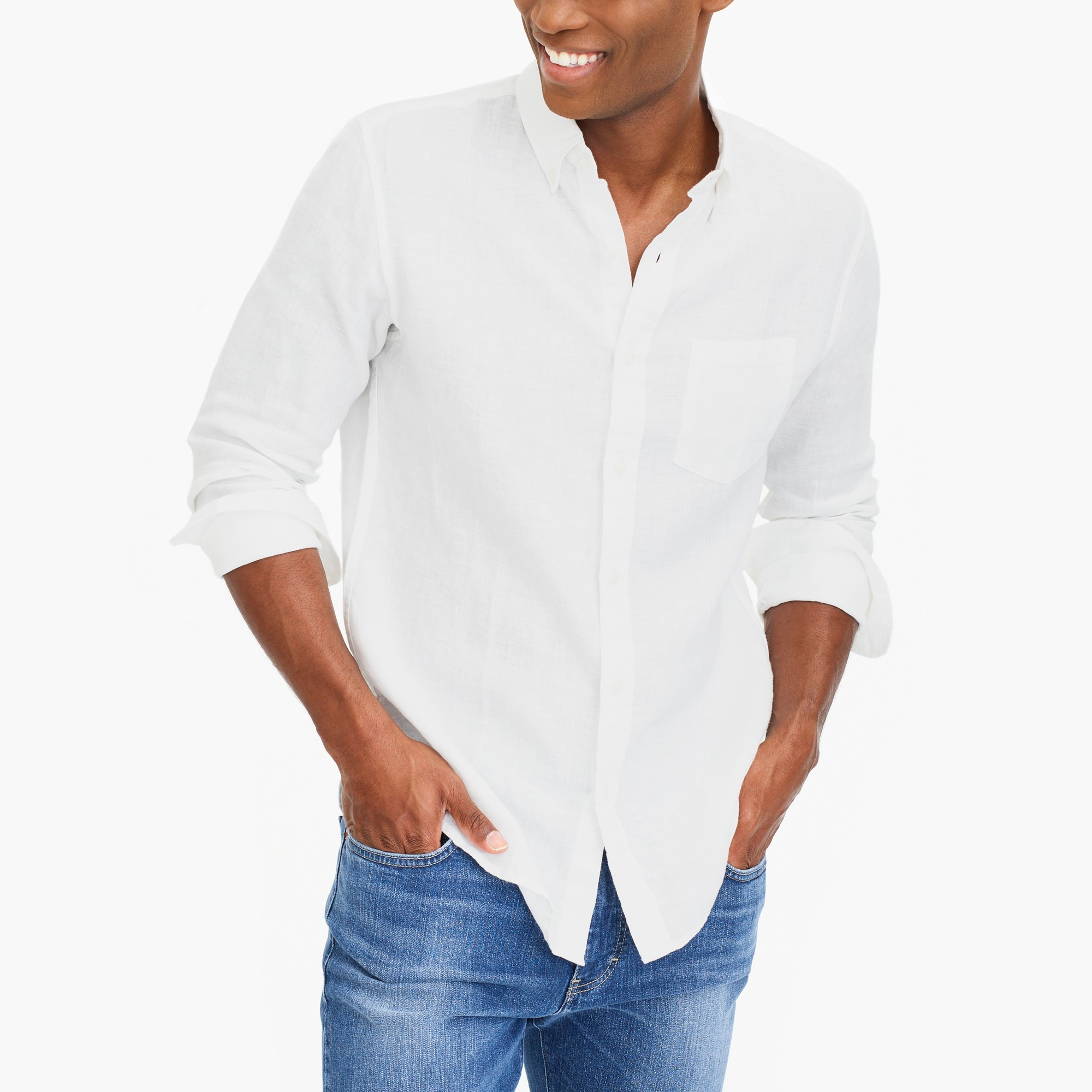factory mens Tall linen shirt