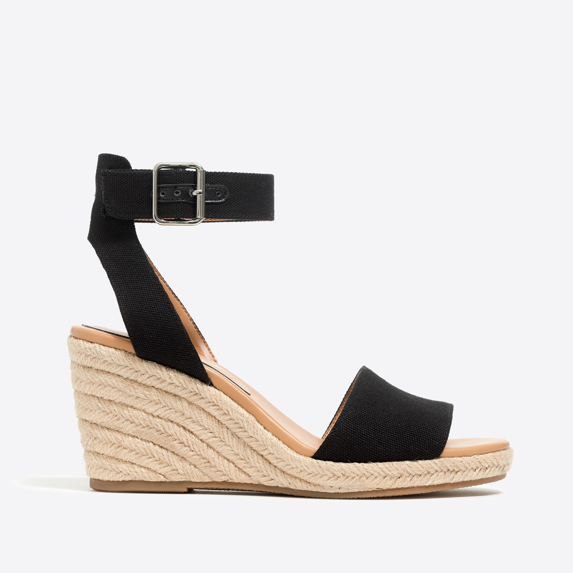 Image 3 for Strappy canvas espadrille wedges