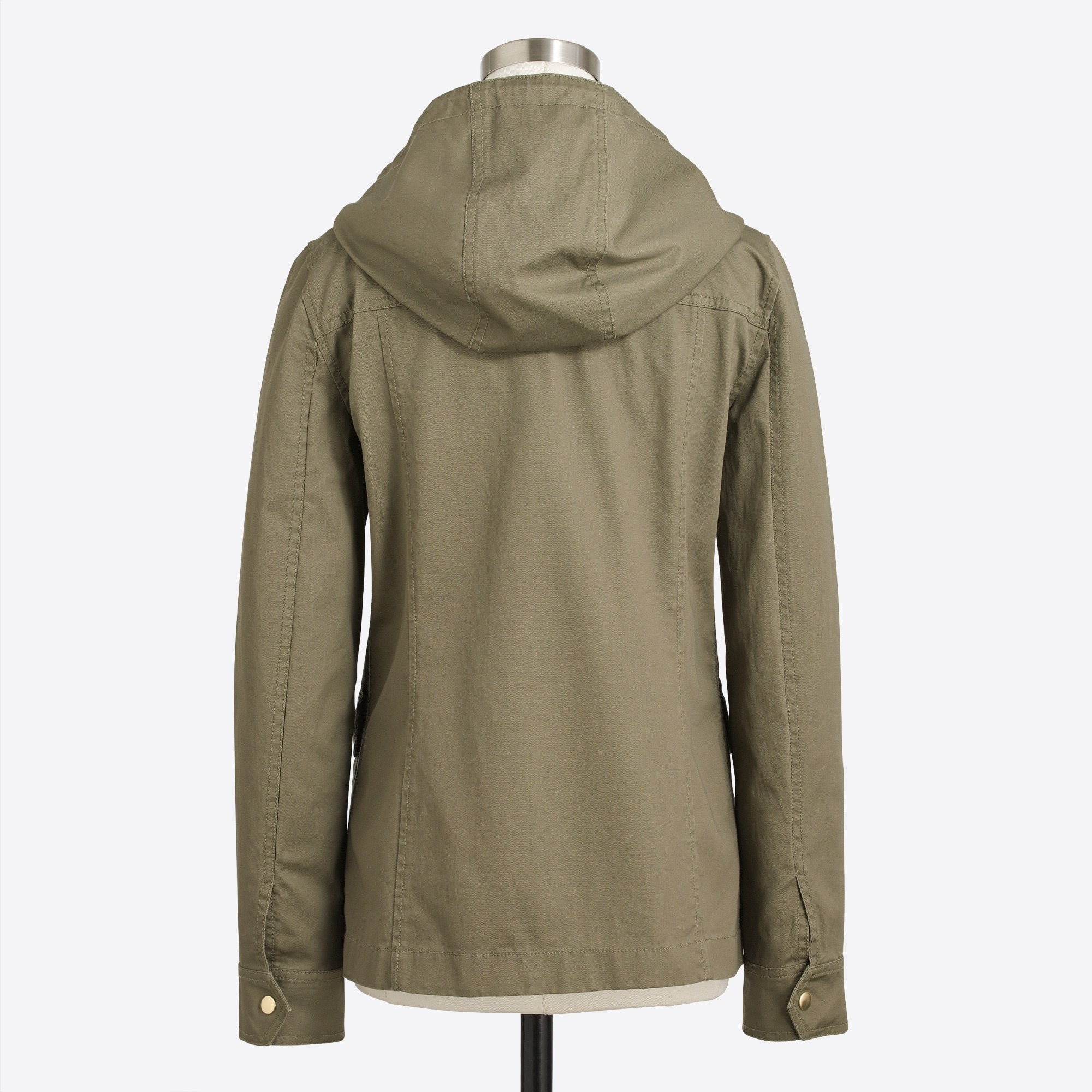 Image 4 for Resin-coated twill jacket with hood