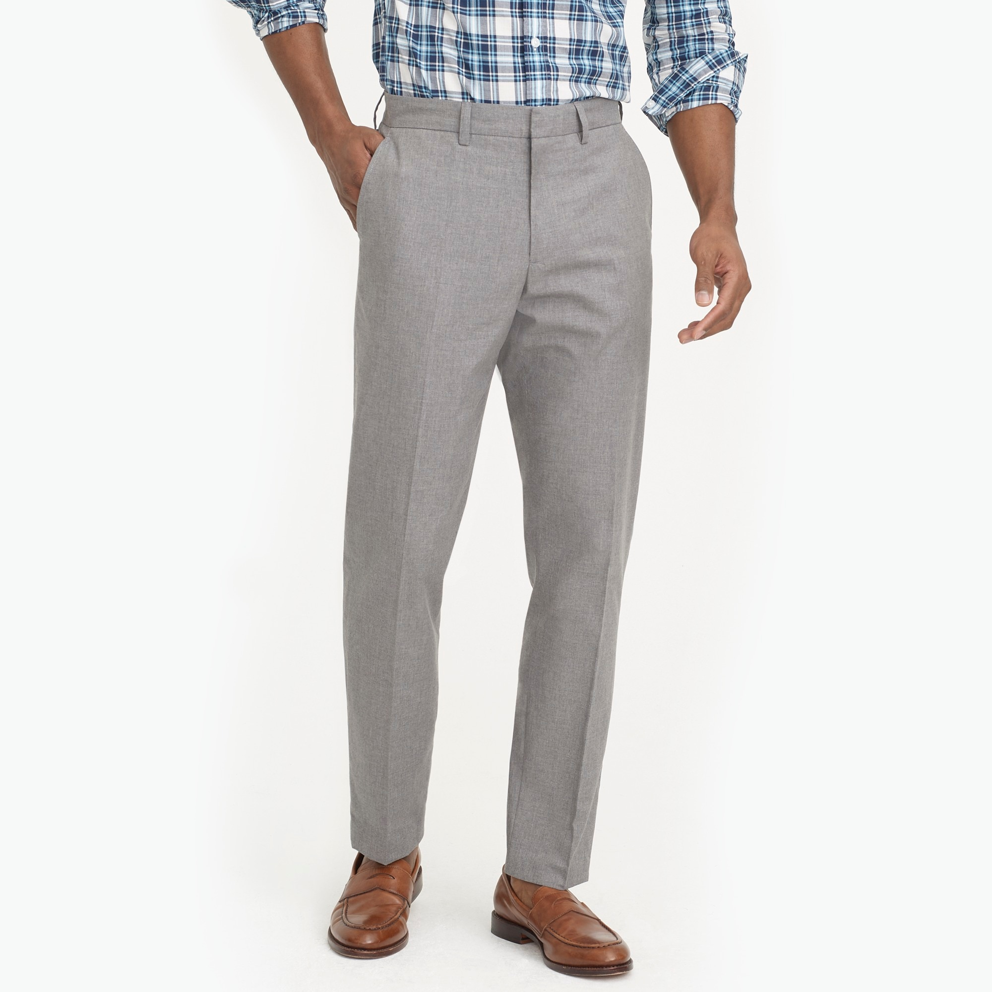 factory mens Bedford dress pant in heathered cotton