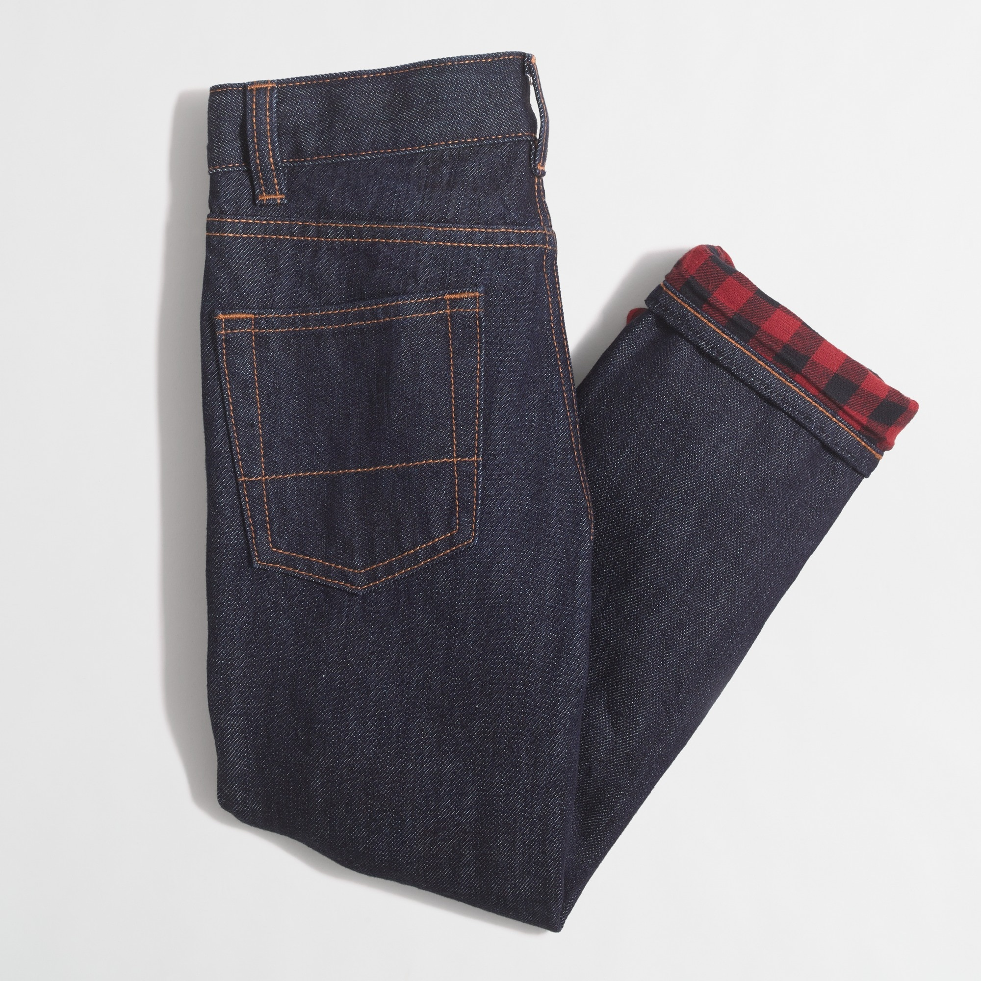 Boys' flannel-lined jeans