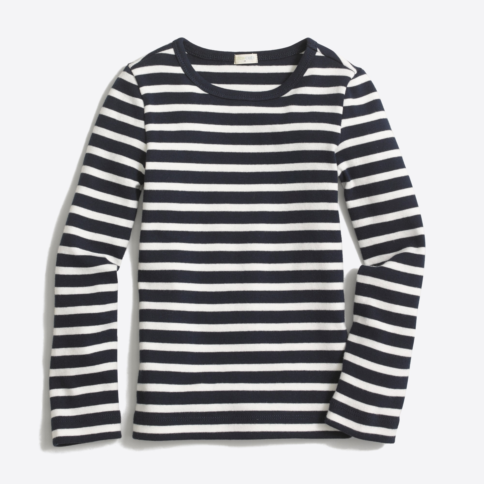 Image 1 for Girls' long-sleeve striped layering T-shirt