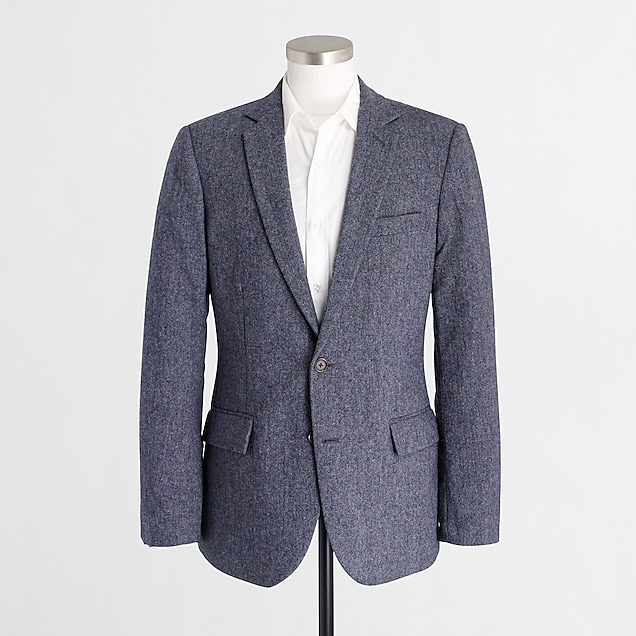 j.crew factory: thompson suit jacket in donegal wool