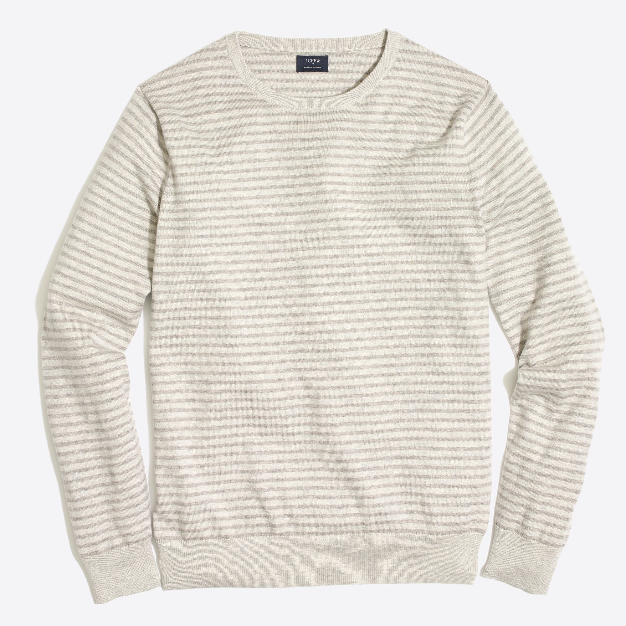 harbor cotton striped crewneck sweater : factorymen harbor cotton