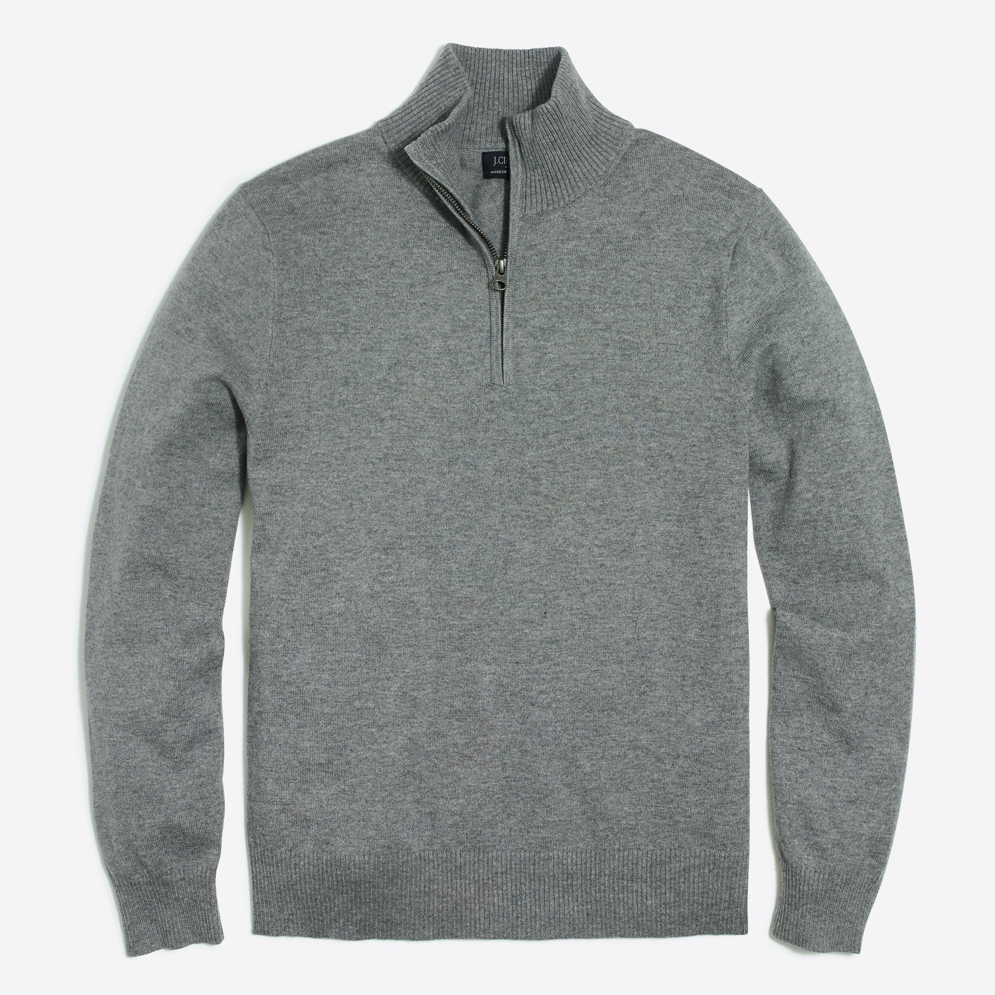 Image 3 for Tall harbor cotton half-zip sweater