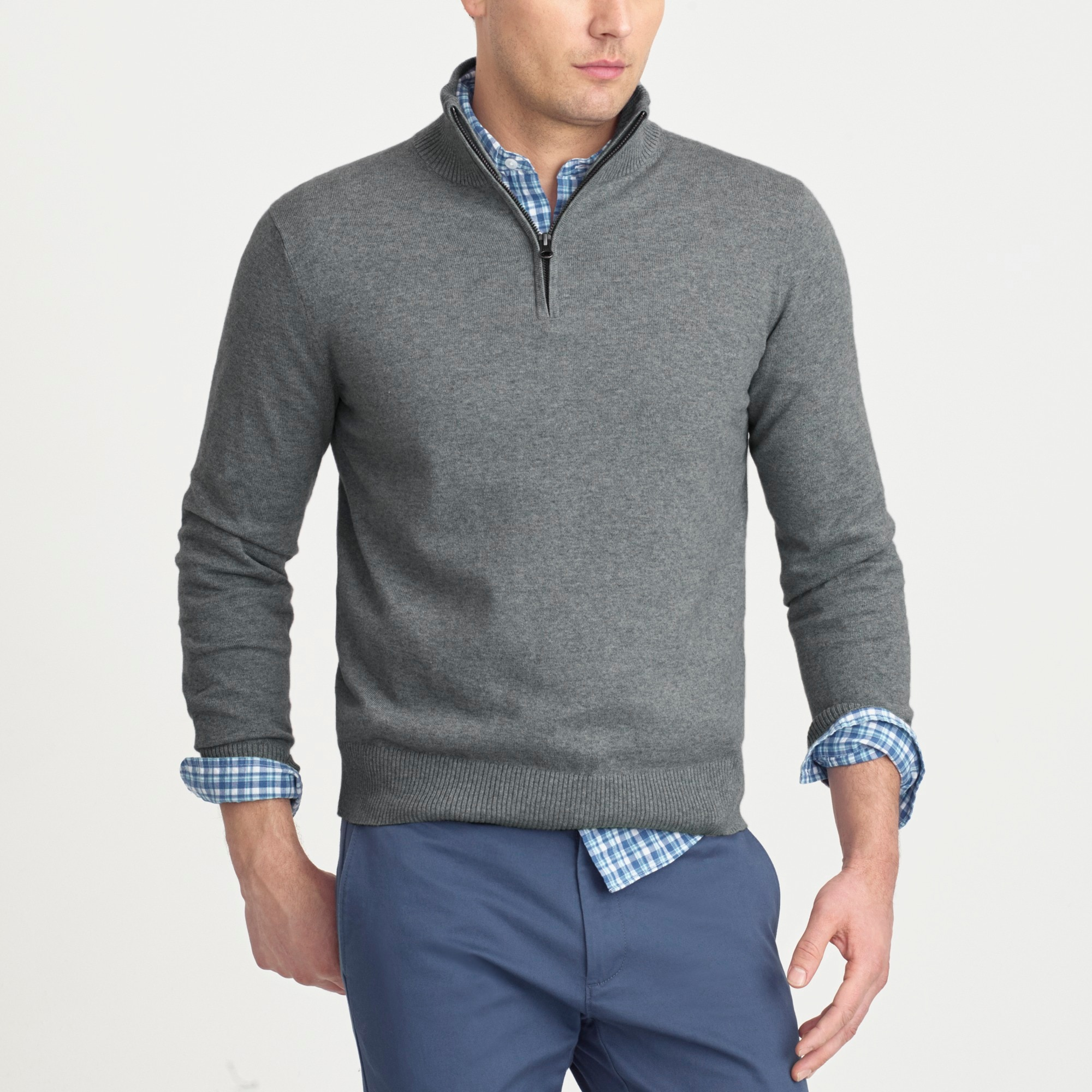 tall harbor cotton half-zip sweater : factorymen sweaters