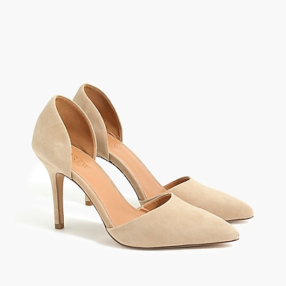factory womens Lana suede d'Orsay pumps