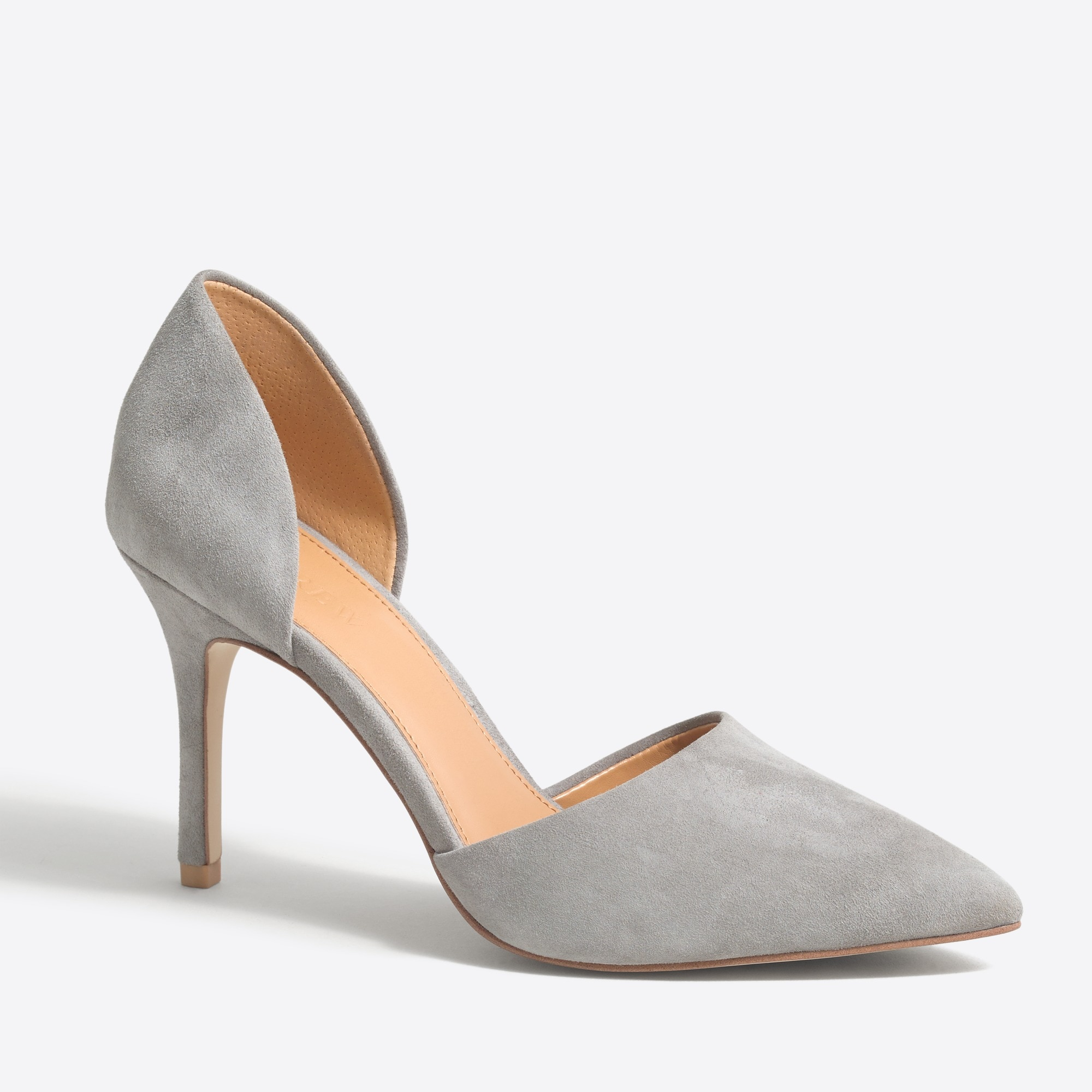 Suede d'Orsay pumps factorywomen shoes c