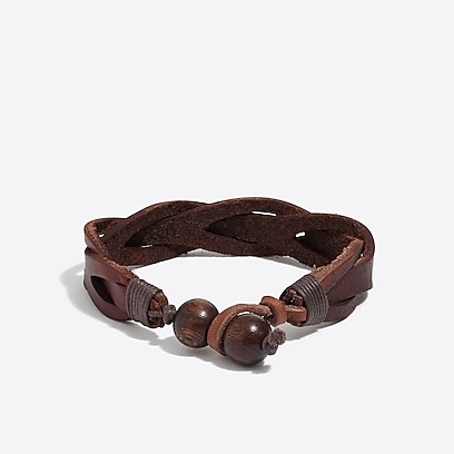 factory mens Leather braided bracelet