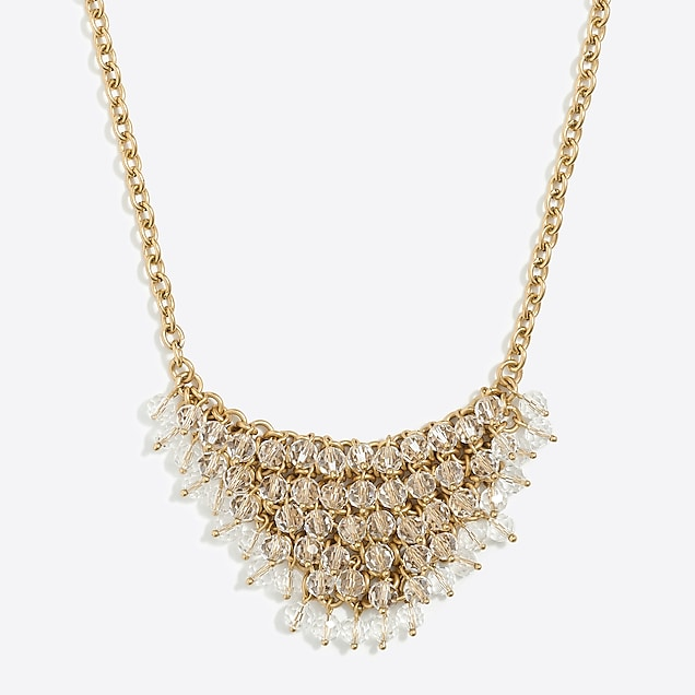 j.crew factory: embellished bib necklace