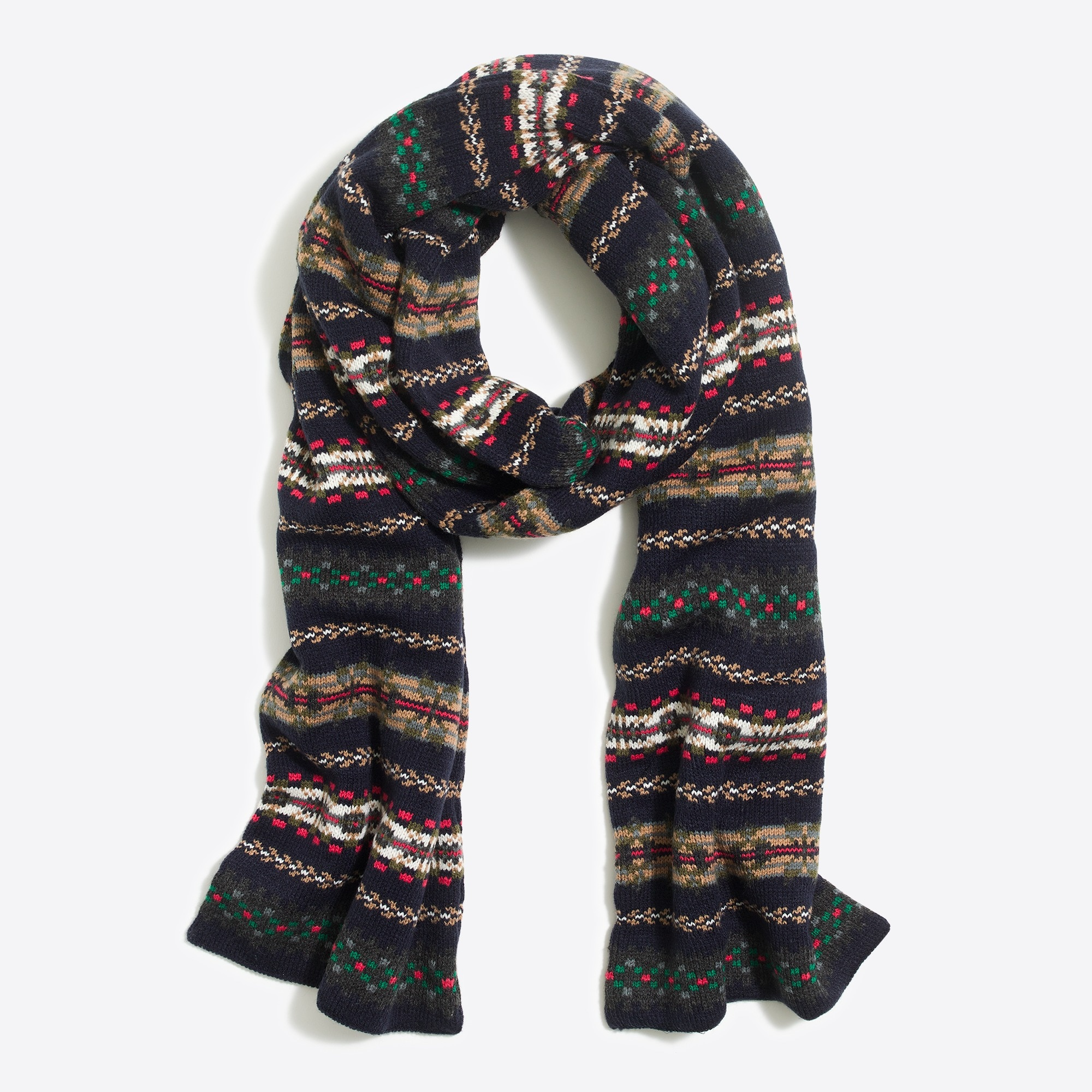 fair isle scarf : factorymen cold-weather accessories