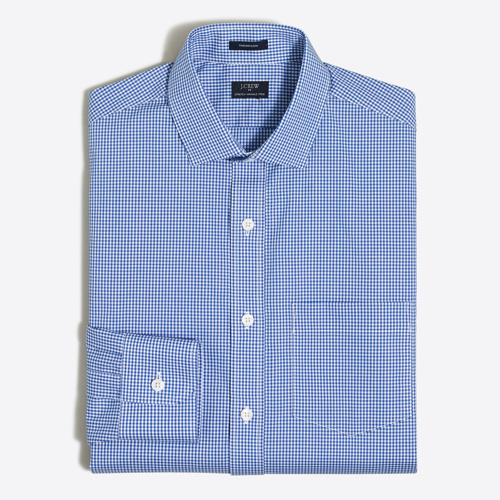 Image 1 for Mini-gingham flex wrinkle-free dress shirt