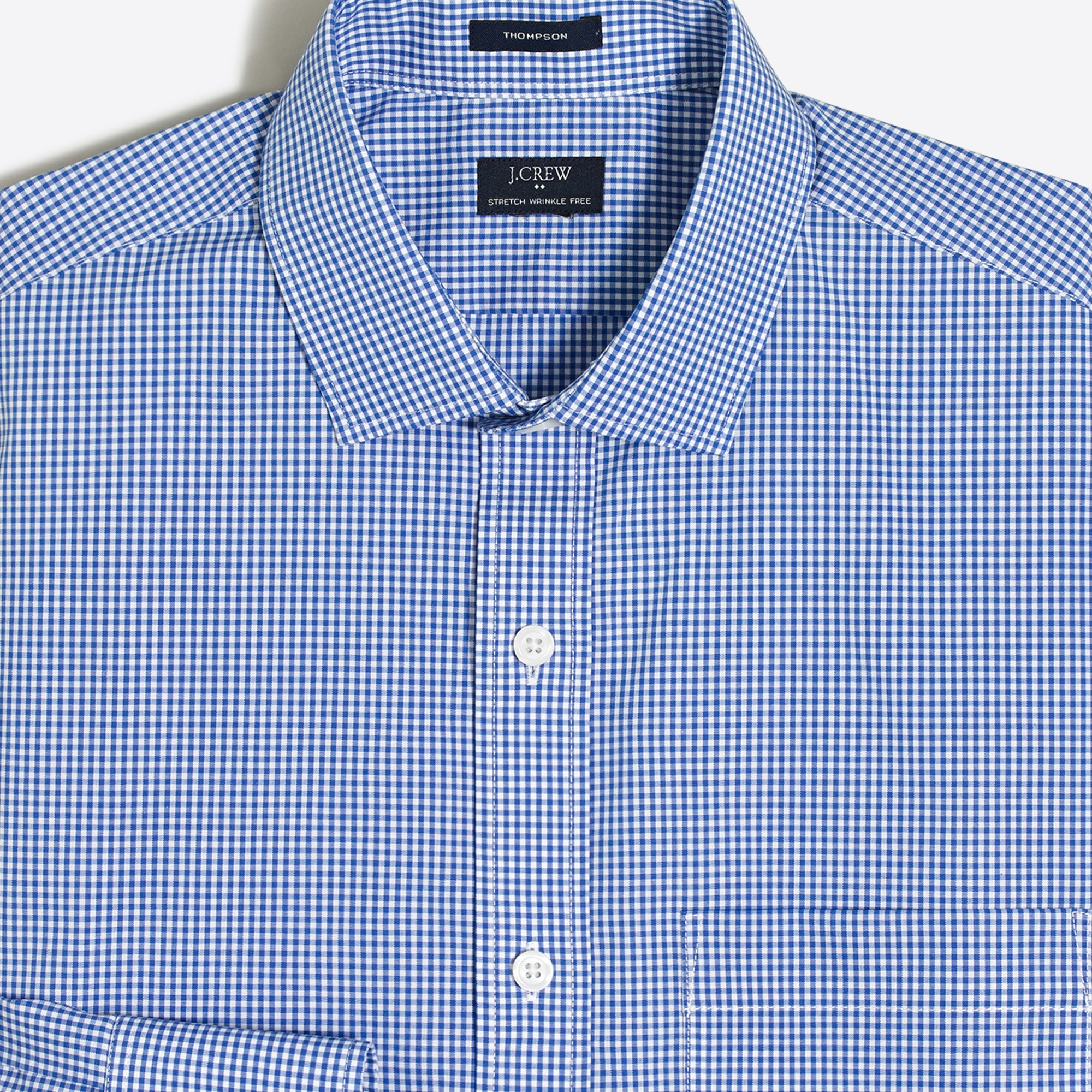 Image 2 for Mini-gingham flex wrinkle-free dress shirt