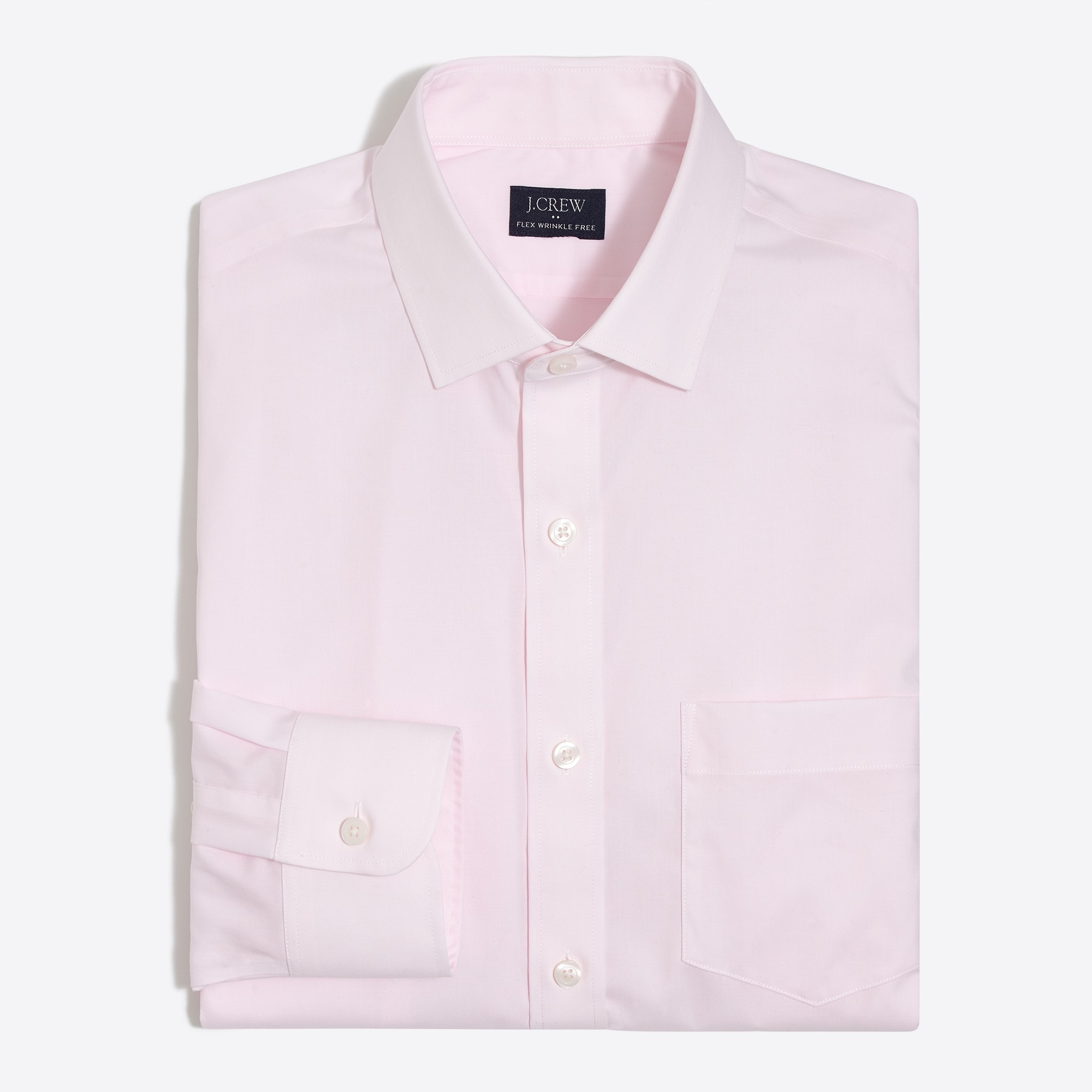 factory mens Thompson slim-fit flex wrinkle-free dress shirt