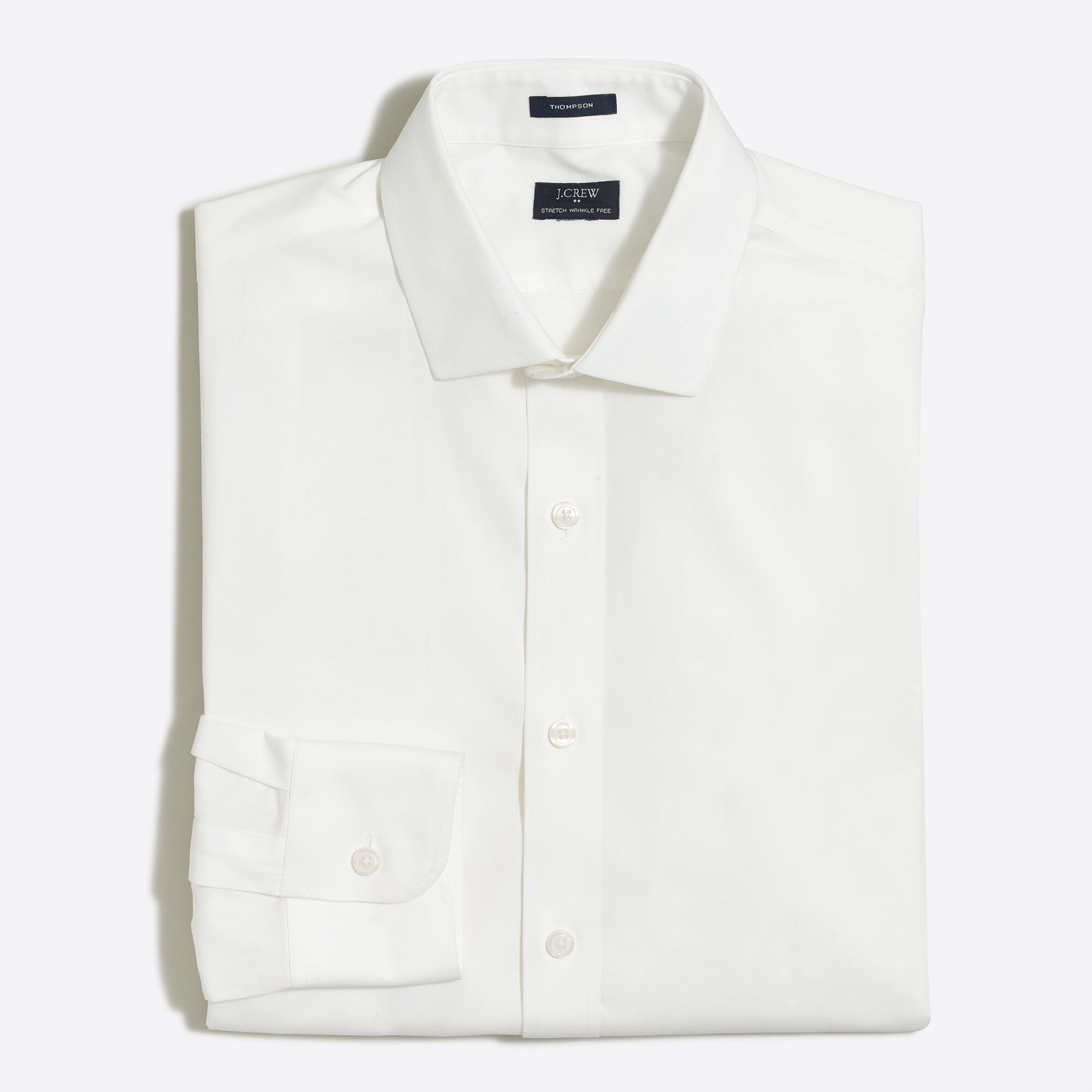factory mens Thompson slim flex wrinkle-free dress shirt