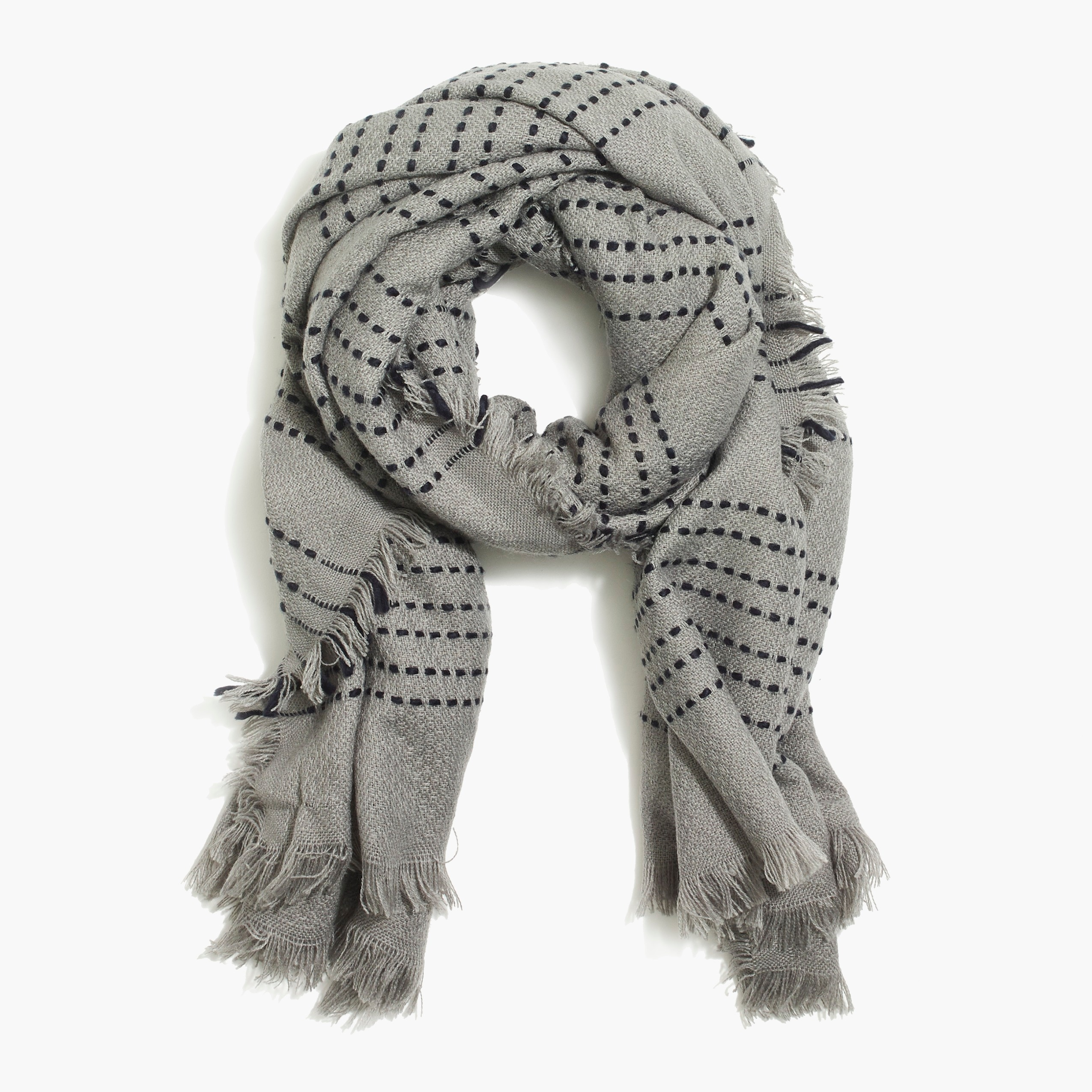 factory womens Dot stripe scarf