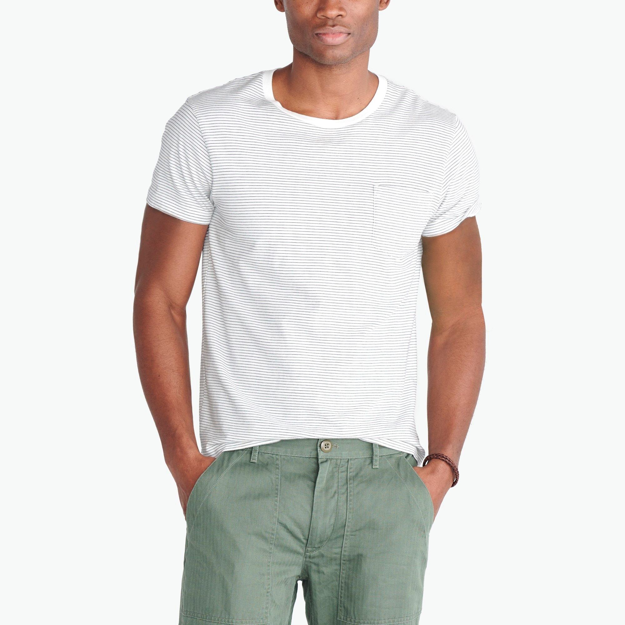 factory mens Broken-in bartlett striped T-shirt
