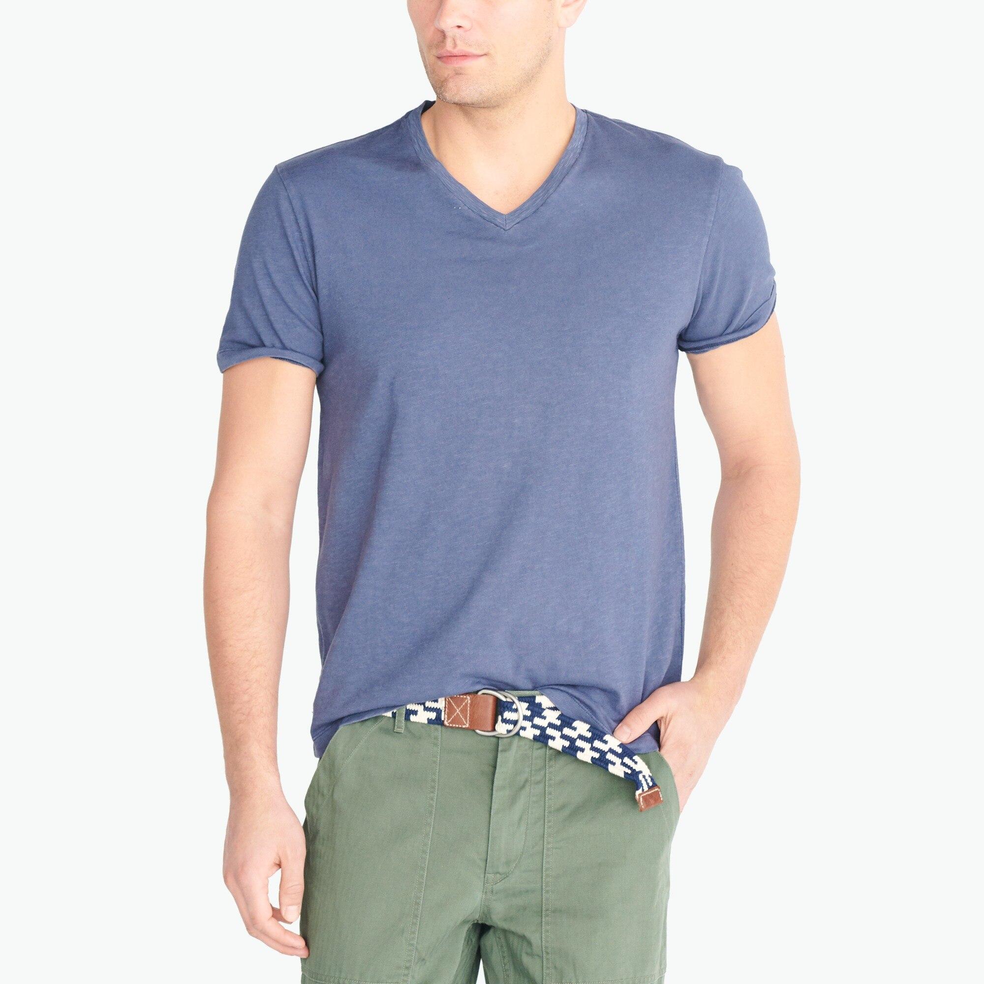 j.crew factory: sunwashed v-neck t-shirt