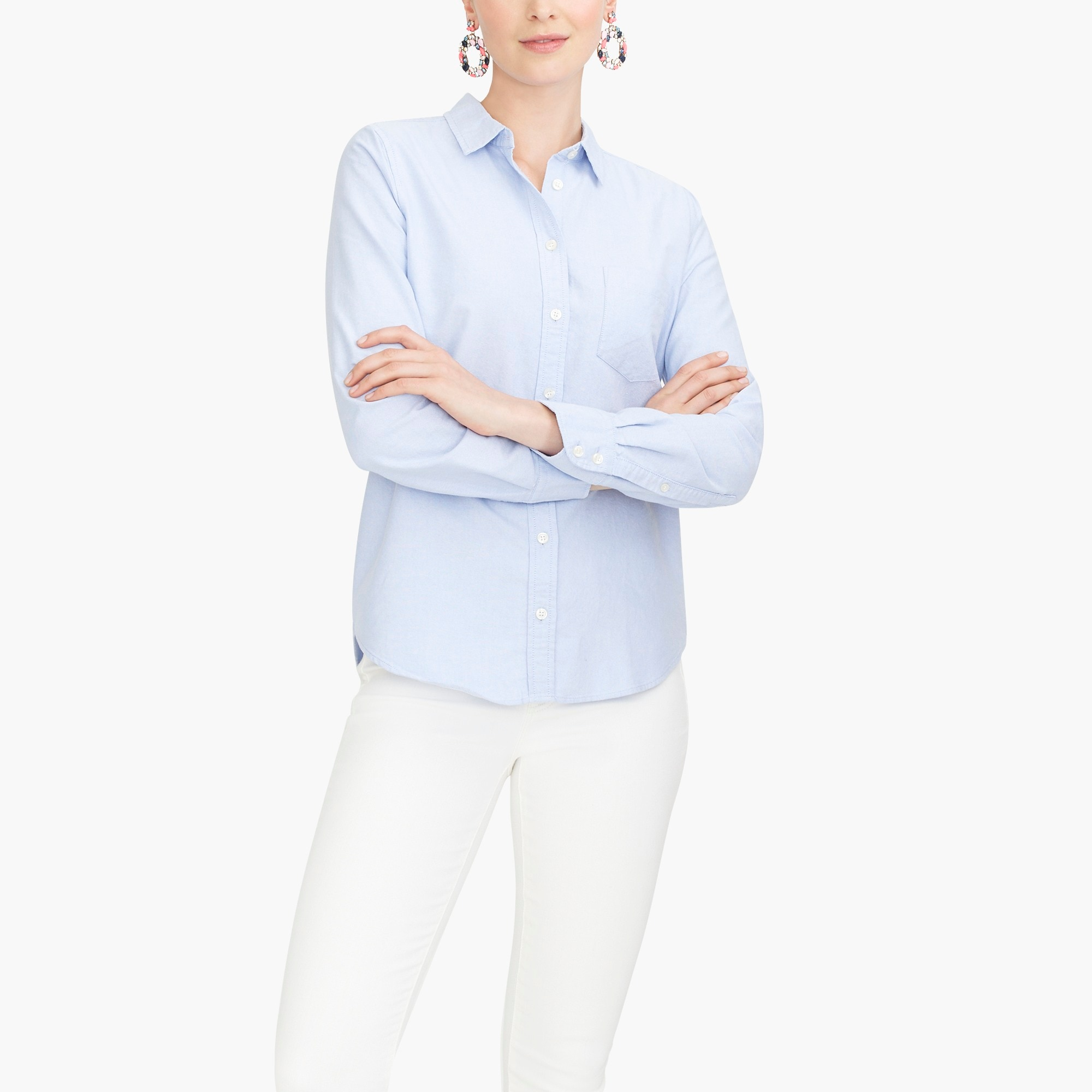 j.crew mercantile oxford shirt : factorywomen button-ups