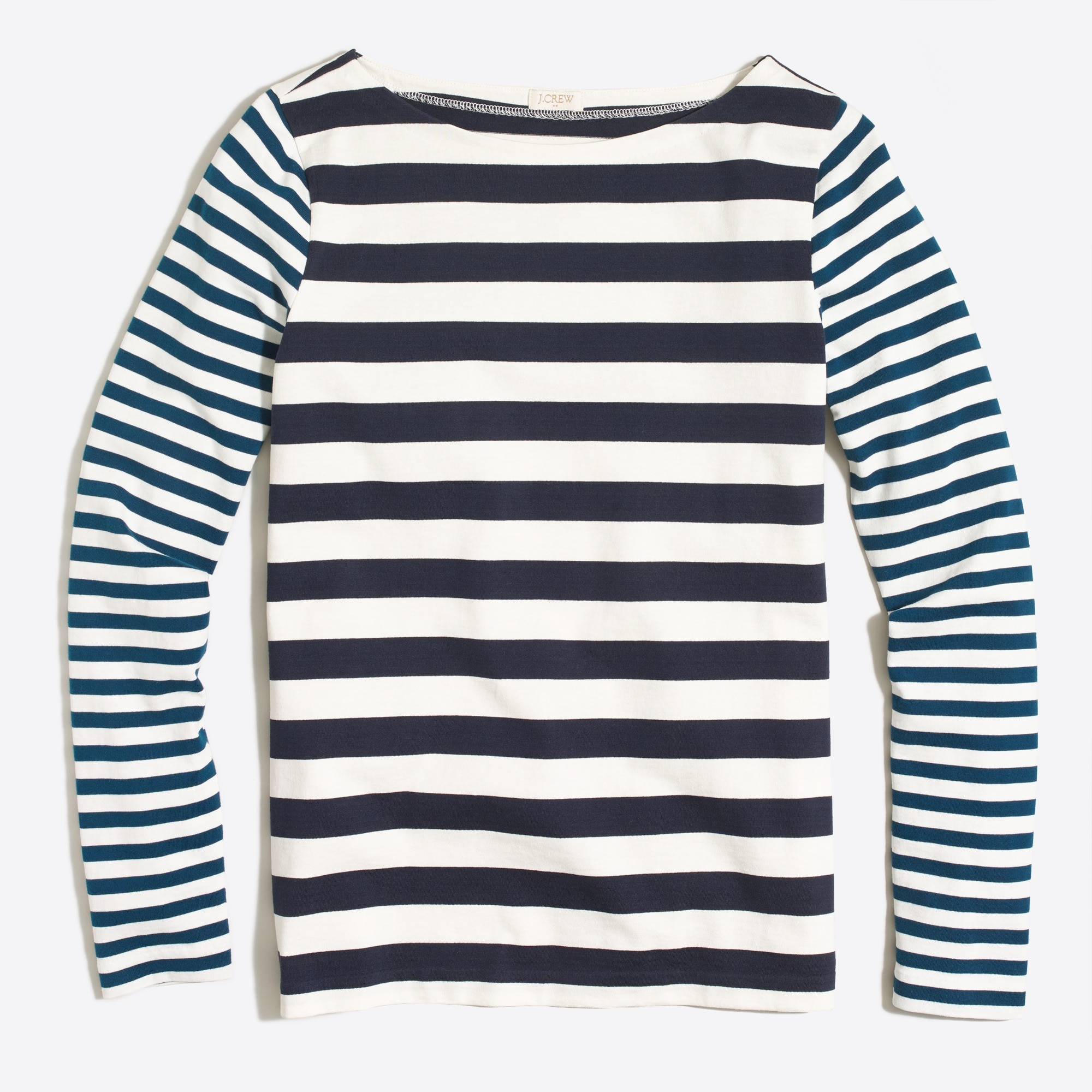 j.crew factory: long-sleeve mixed-stripe t-shirt