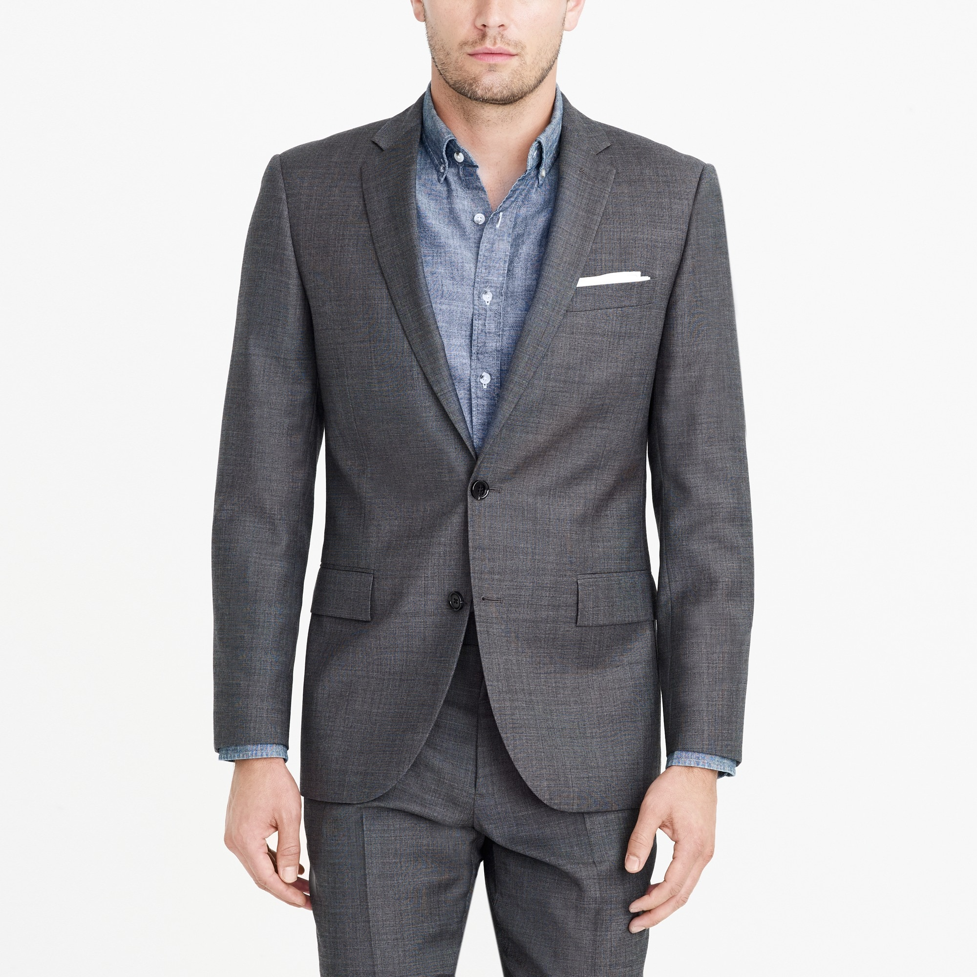 factory mens Slim Thompson suit jacket in worsted wool