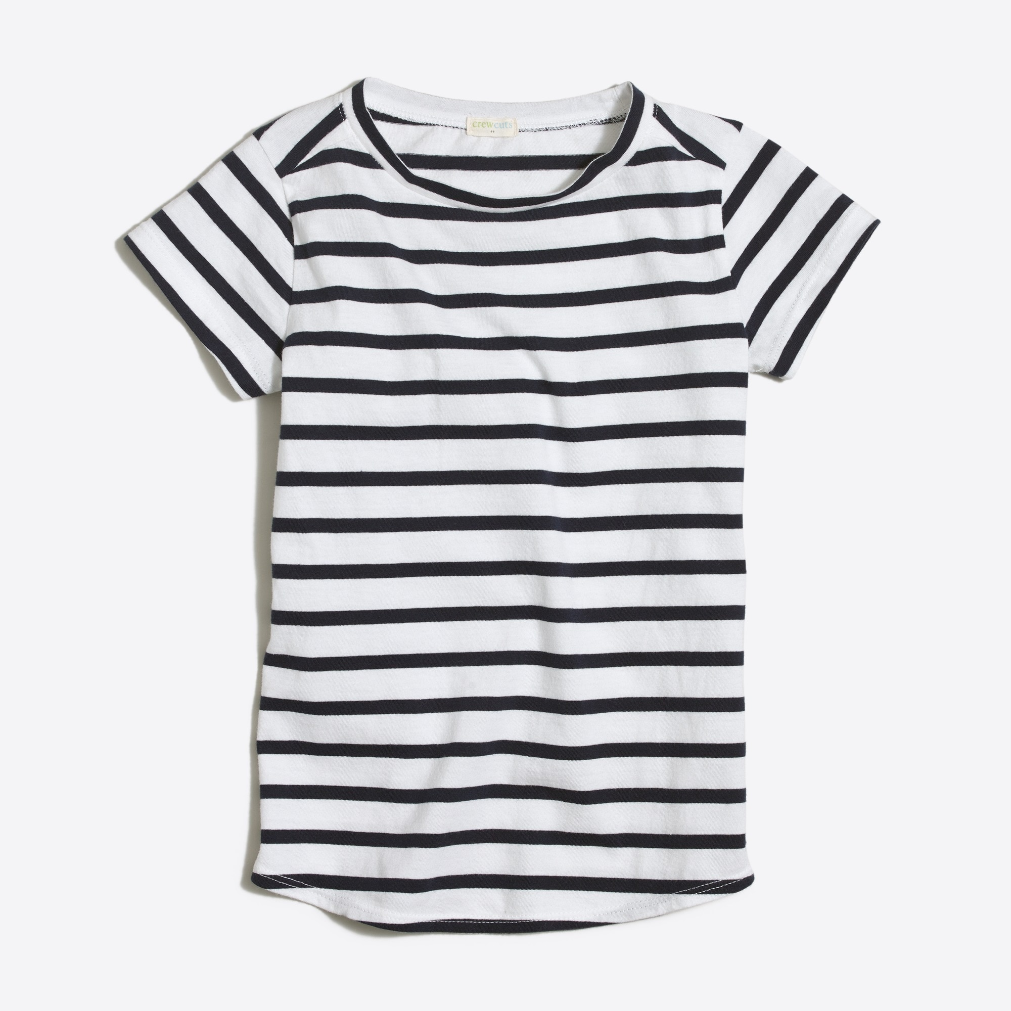 Image 1 for Girls' striped shirttail-hem T-shirt