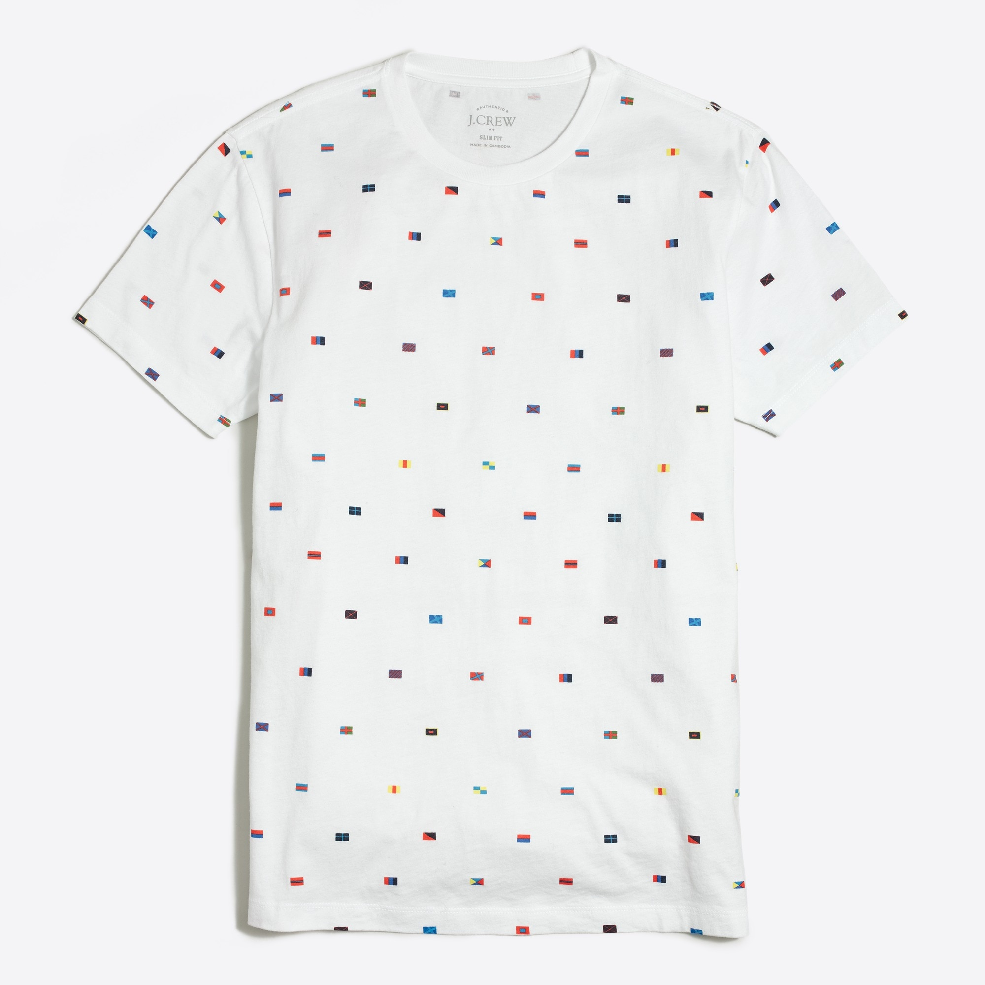 Image 1 for Slim nautical flags T-shirt