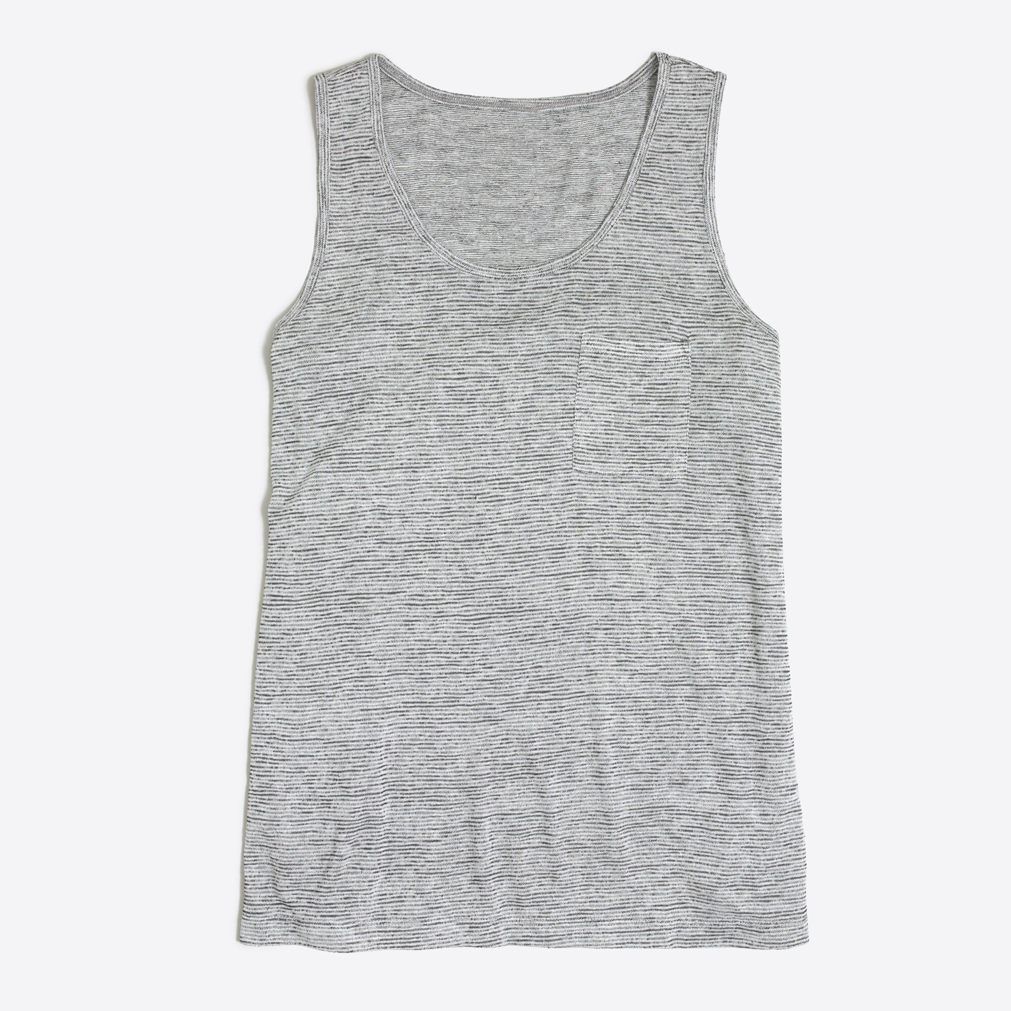 space-dyed tank top : factorywomen sleeveless