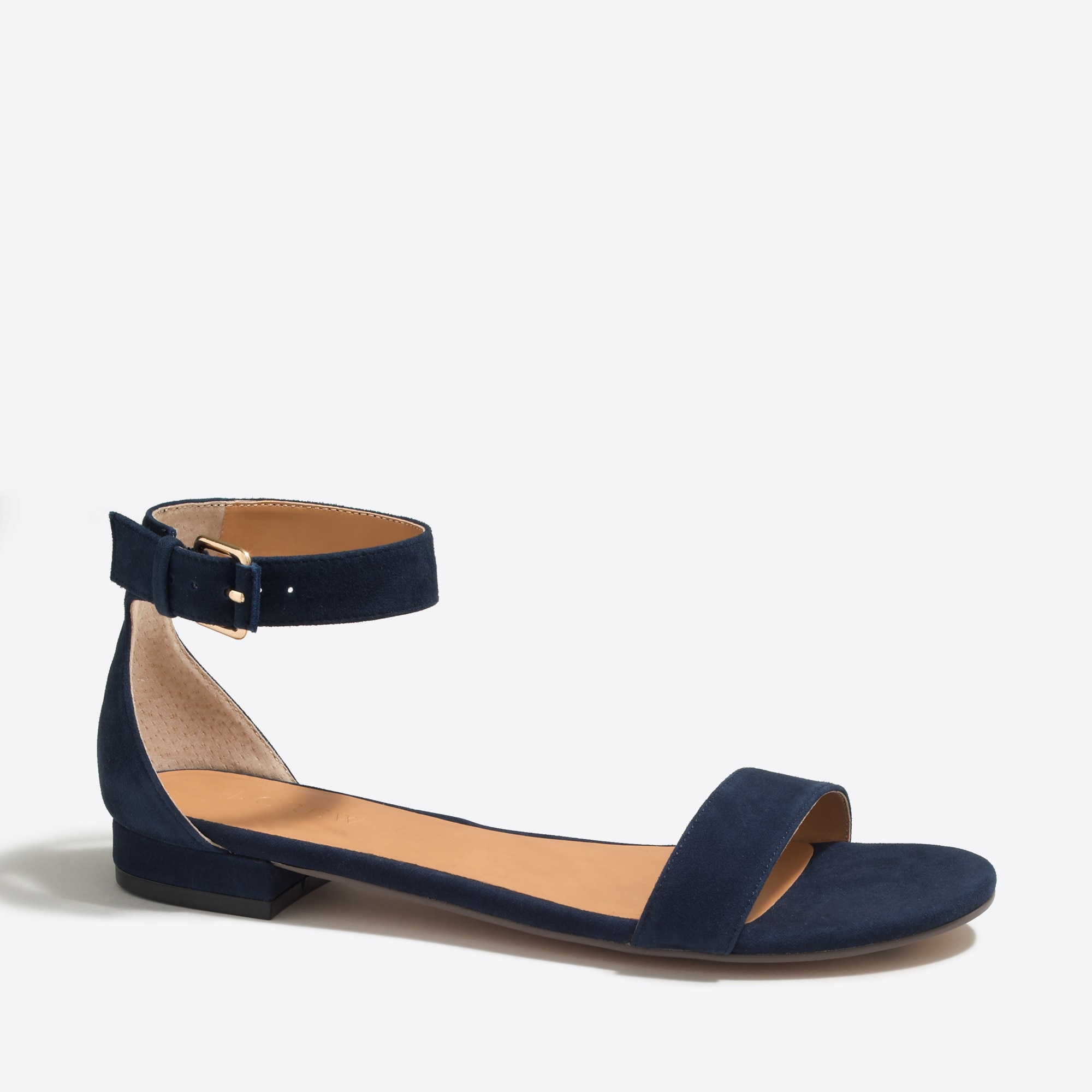 hadley suede ankle-strap sandals : factorywomen sizes 5 & 12 shoes