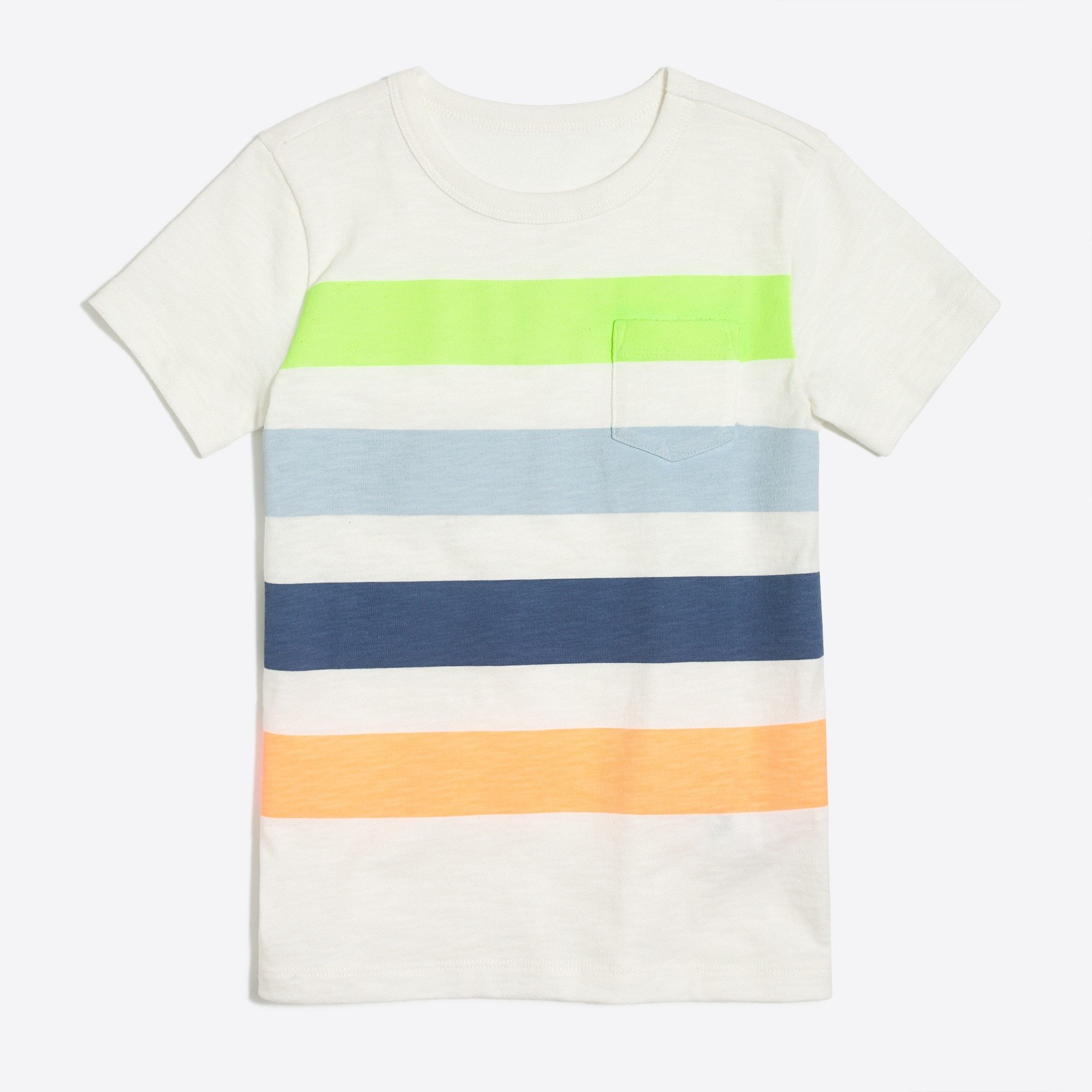 boys' multicolor placed-stripe t-shirt : factoryboys stripes & novelty
