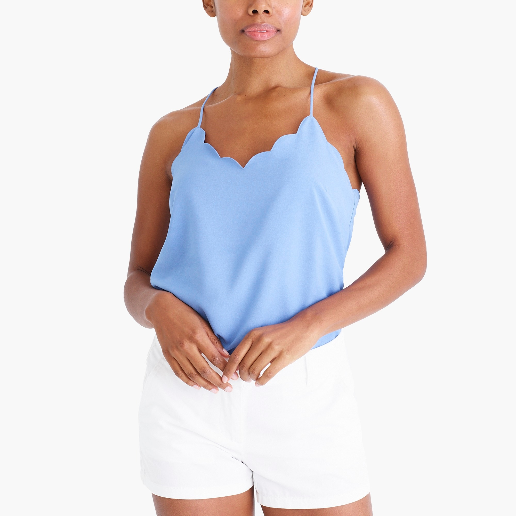 factory womens Scalloped cami top