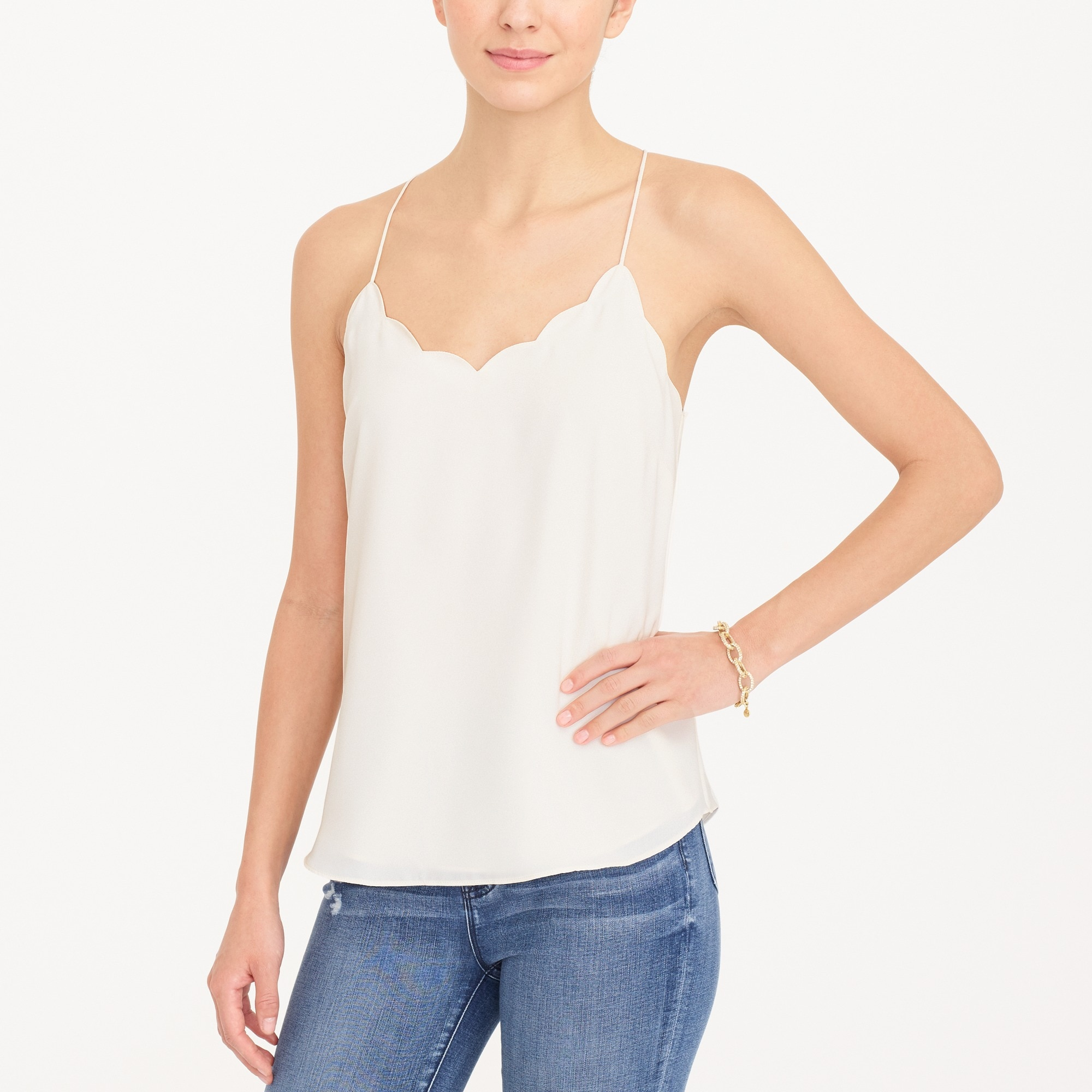 Scalloped cami top factorywomen new arrivals c