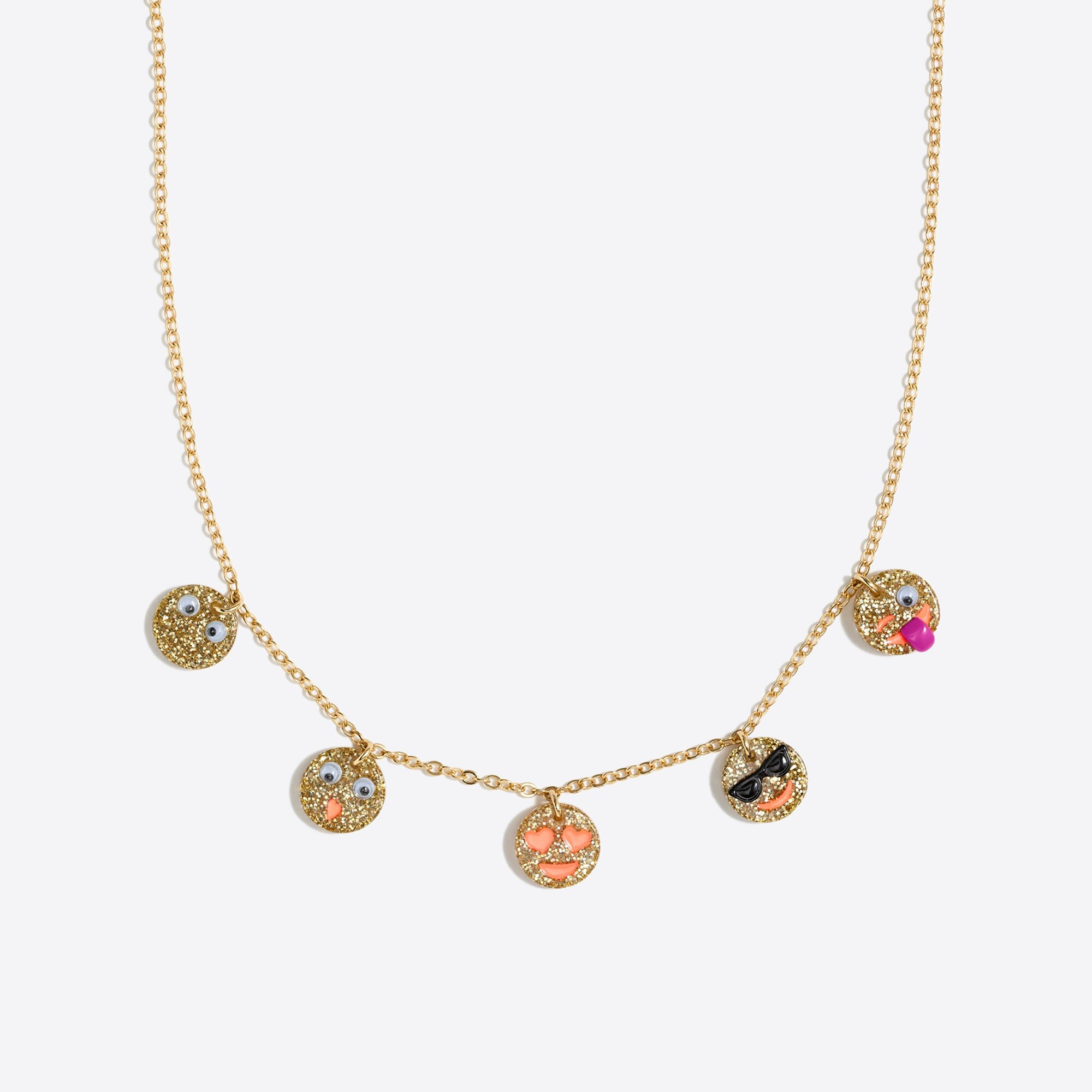girls' emoji charm necklace : factorygirls jewelry