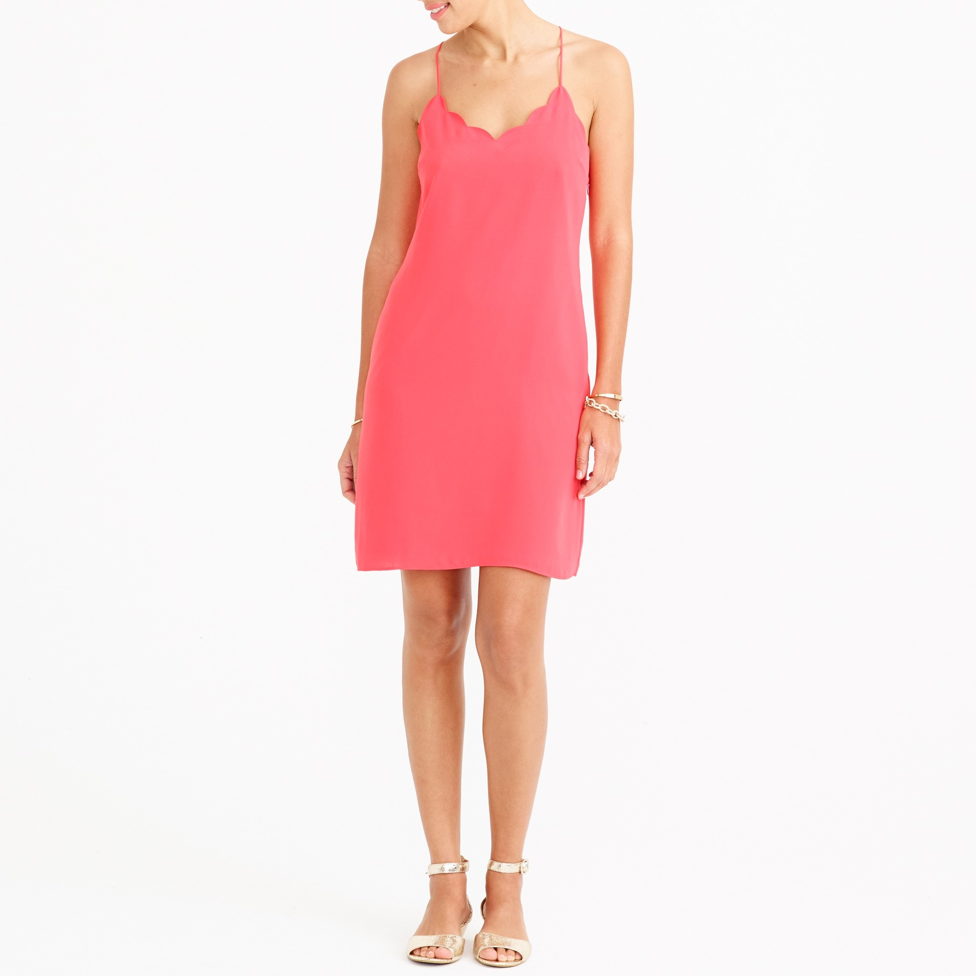 scalloped tank dress : factorywomen casual
