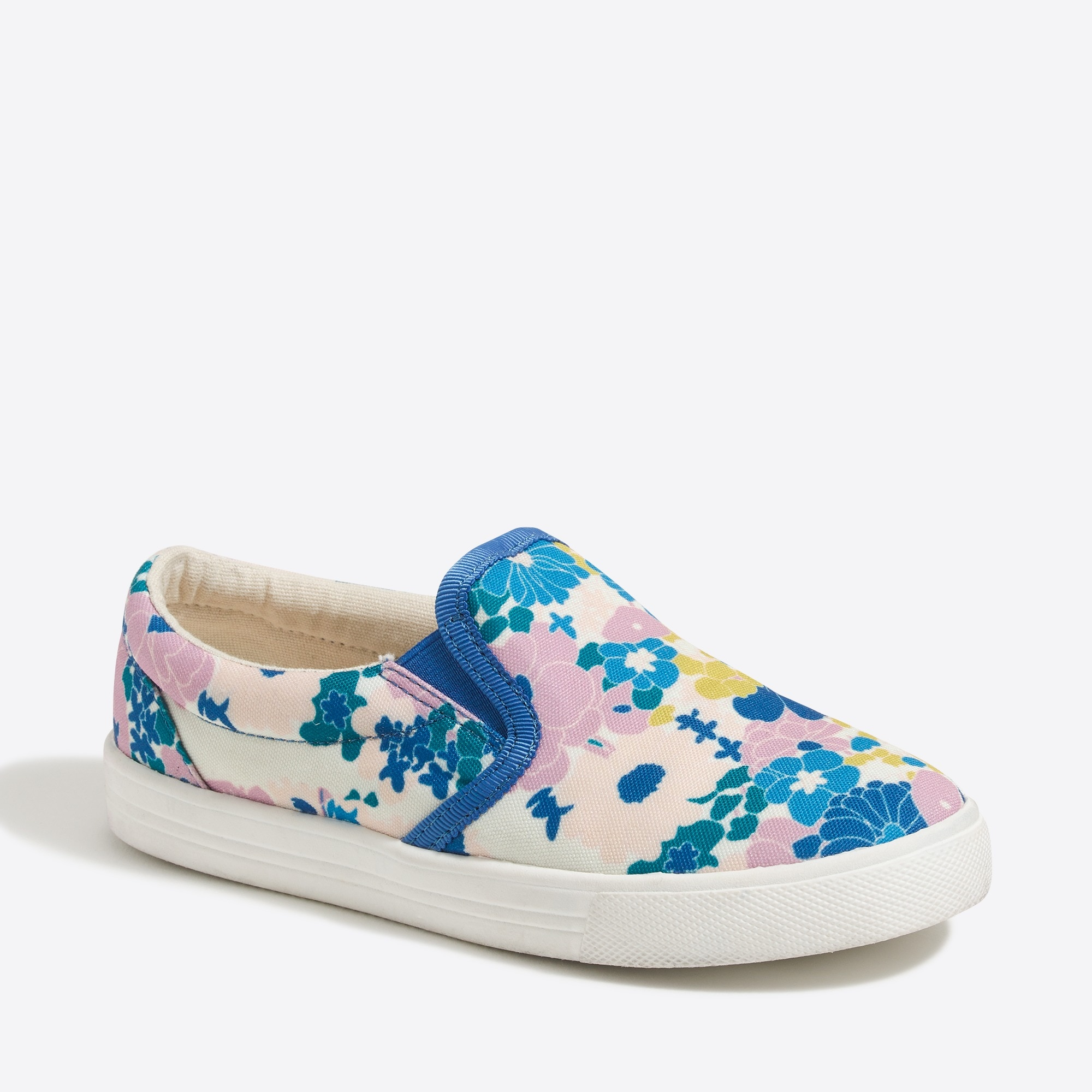 Image 1 for Girls' canvas slip-on sneakers