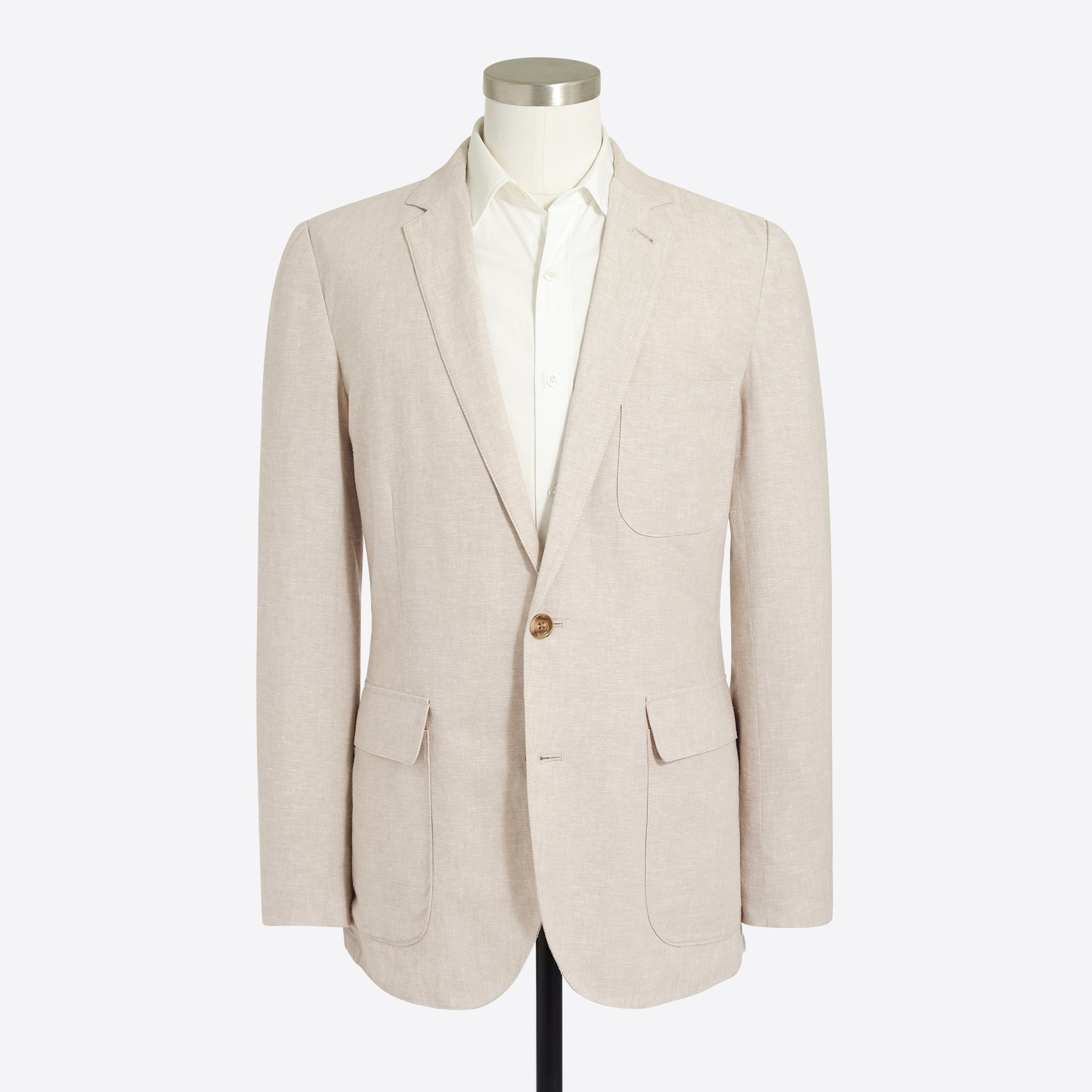 Image 2 for Thompson unstructured linen-cotton blazer