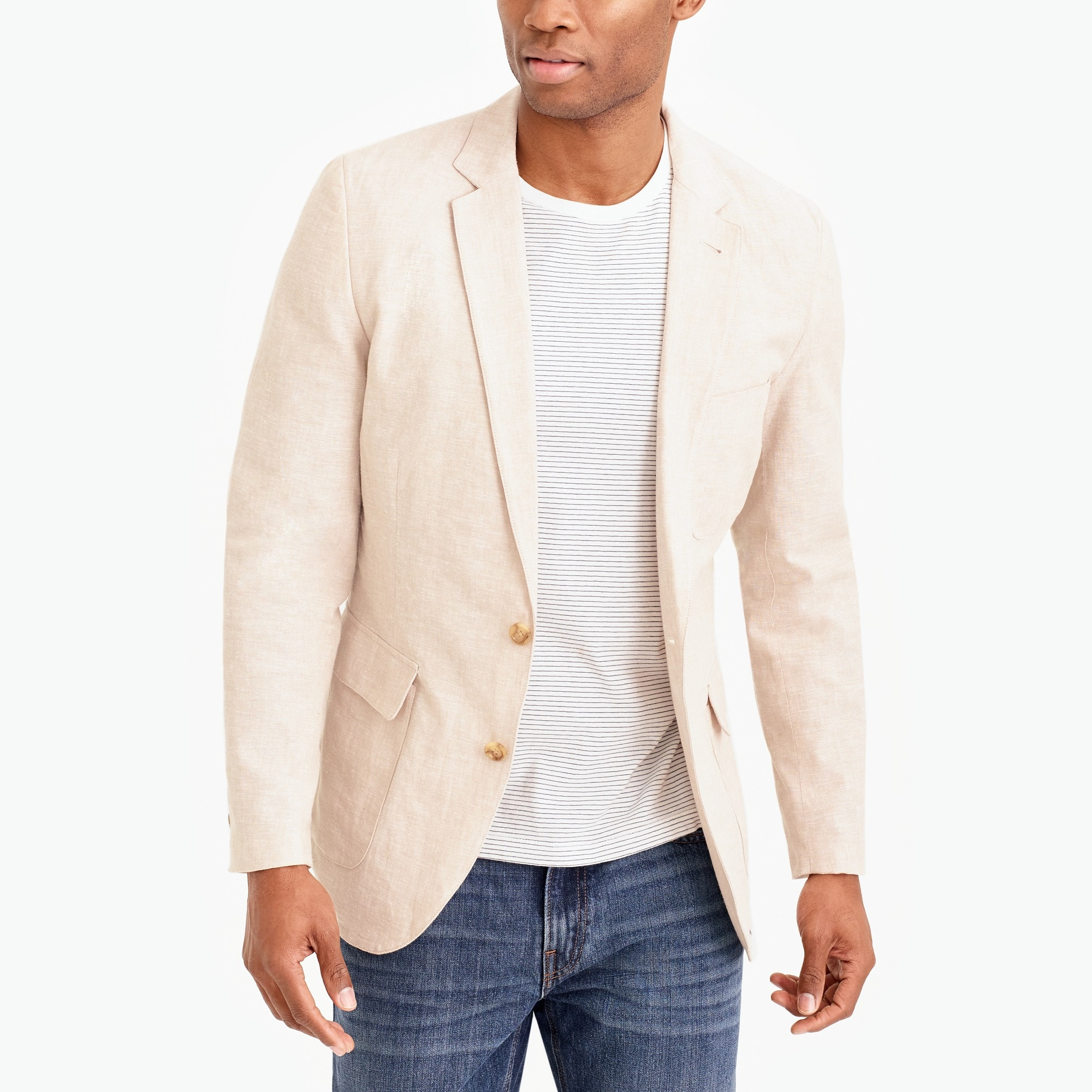 Image 1 for Thompson unstructured linen-cotton blazer