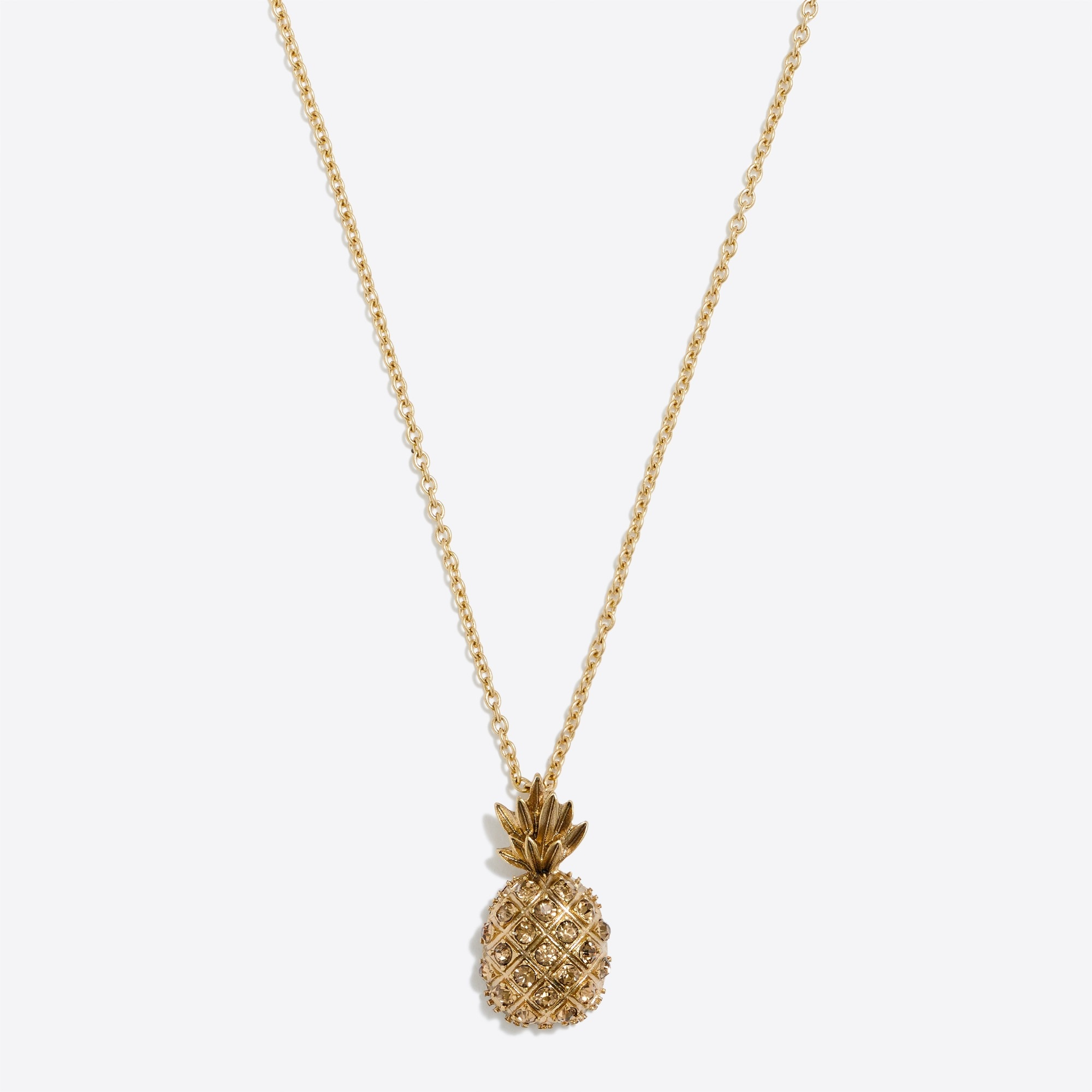 pineapple pendant necklace : factorywomen necklaces