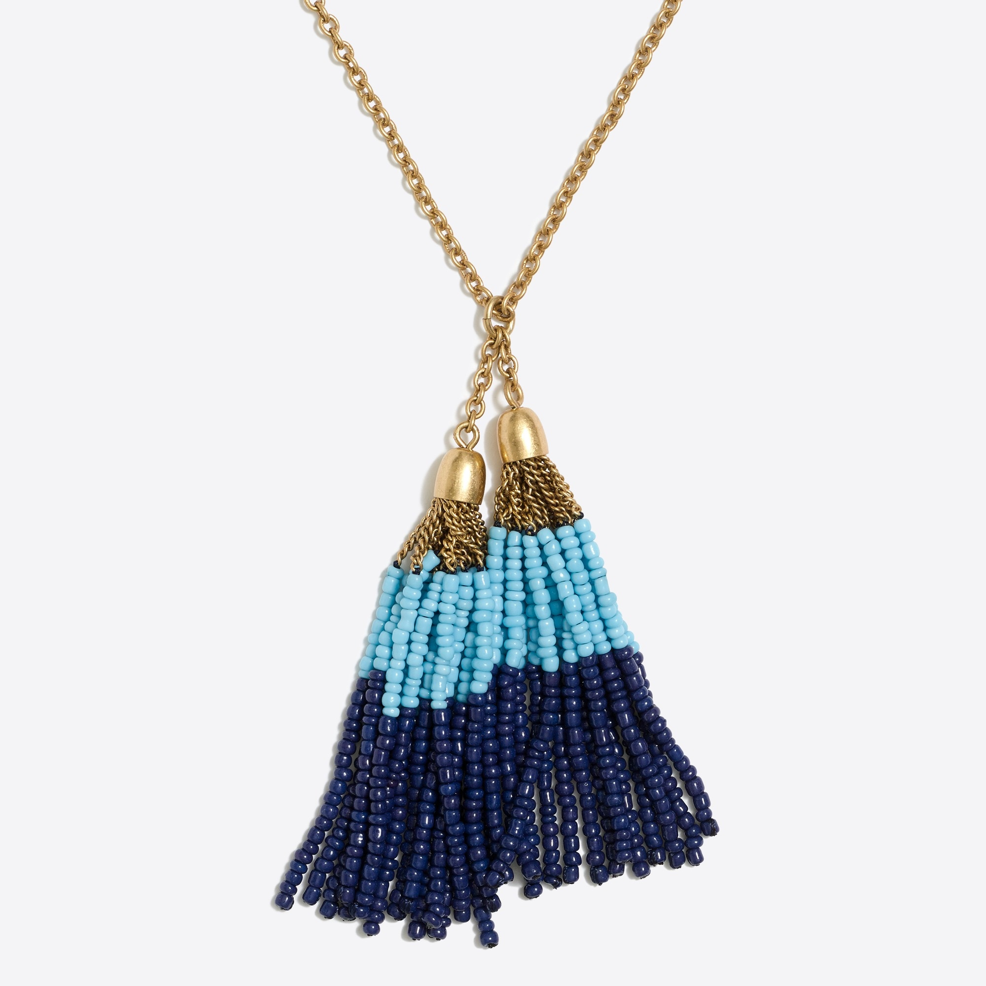 Double tassel pendant necklace