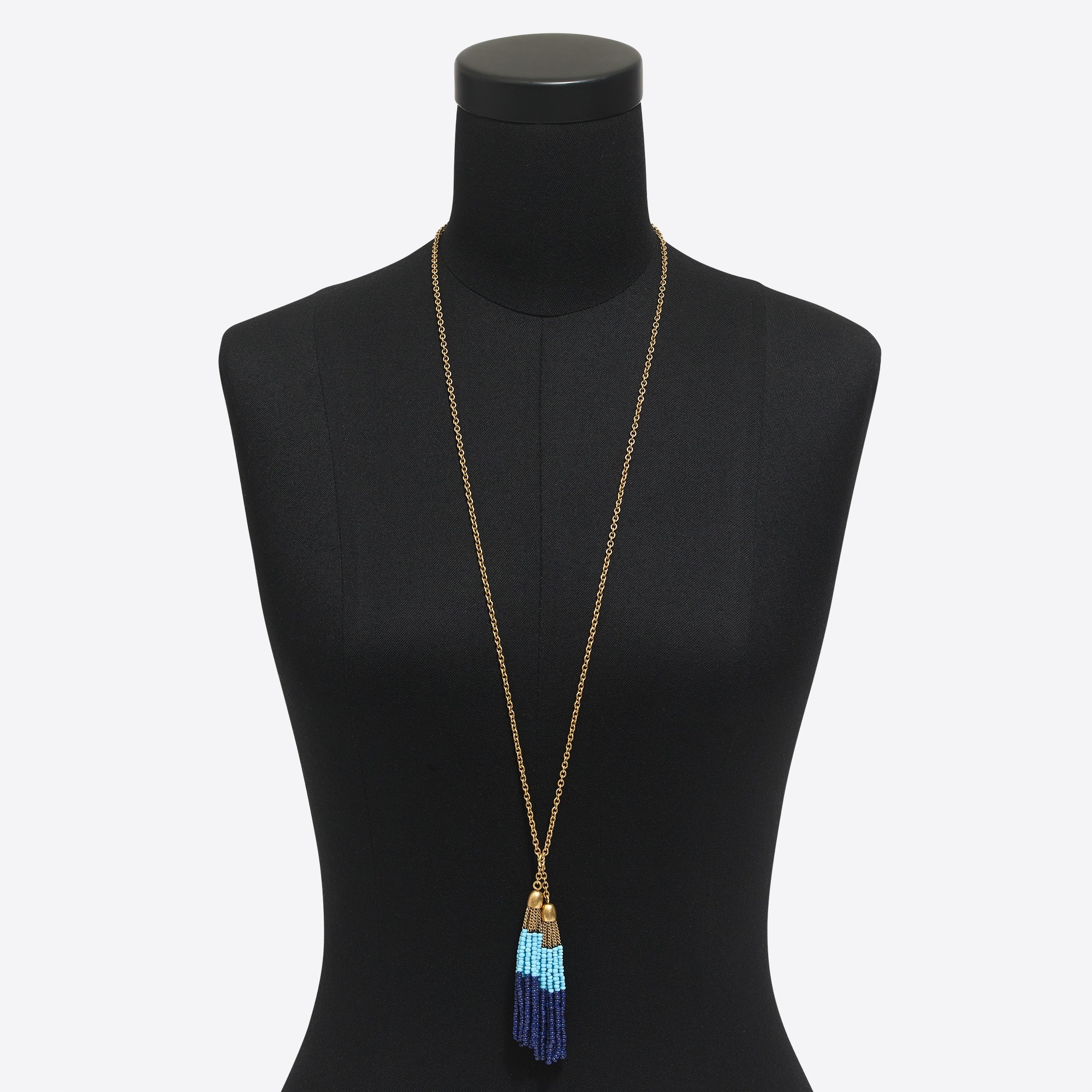 Image 2 for Double tassel pendant necklace
