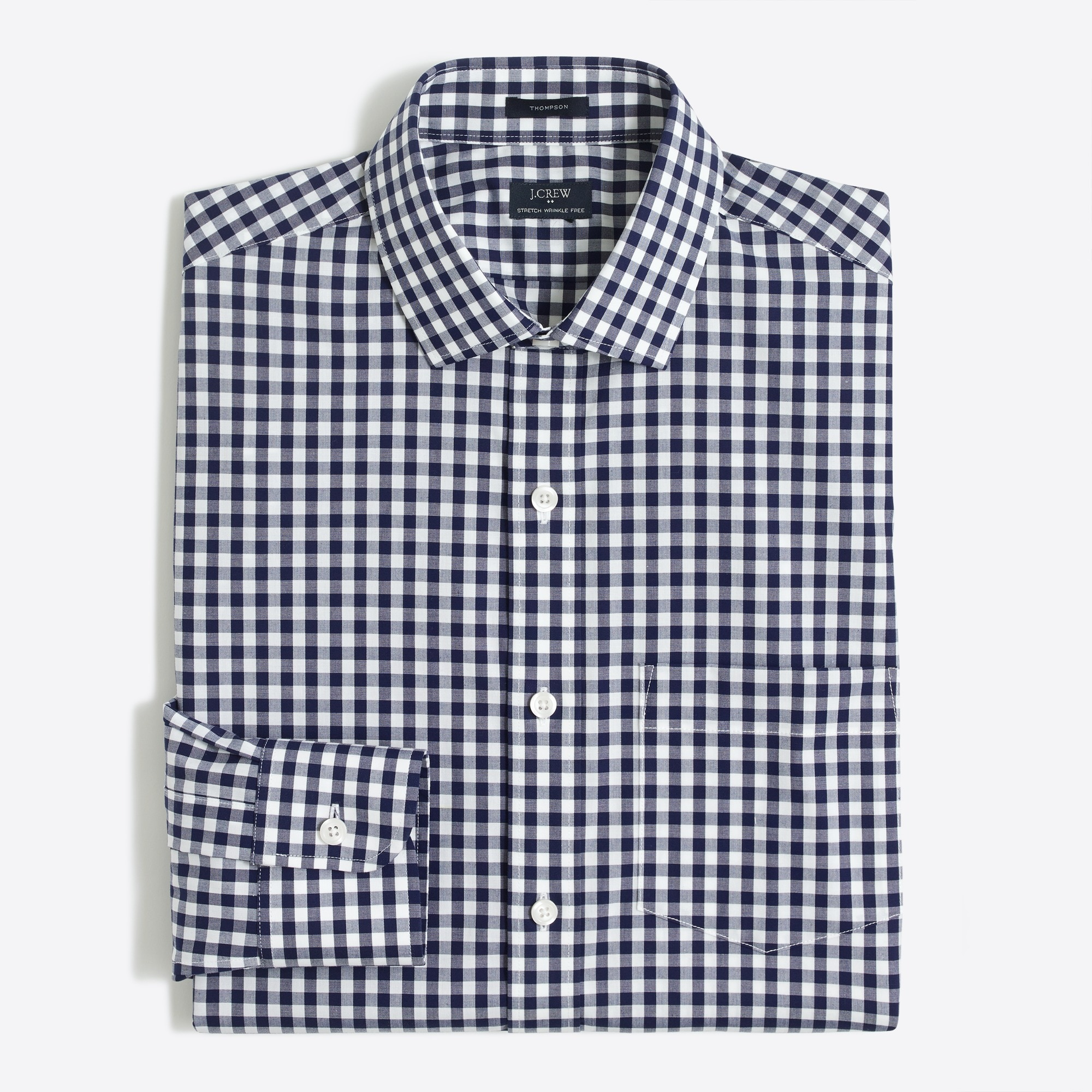 Gingham flex wrinkle-free Voyager dress shirt