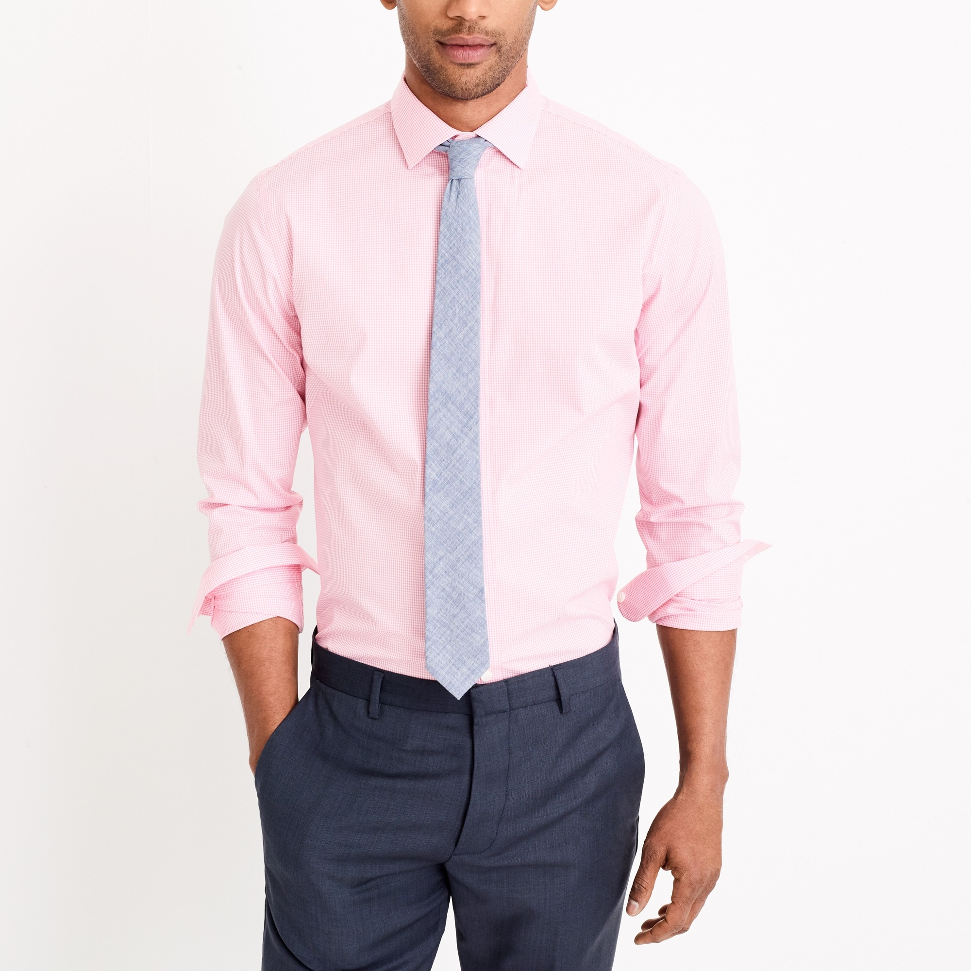j.crew factory: thompson classic-fit flex wrinkle-free dress shirt