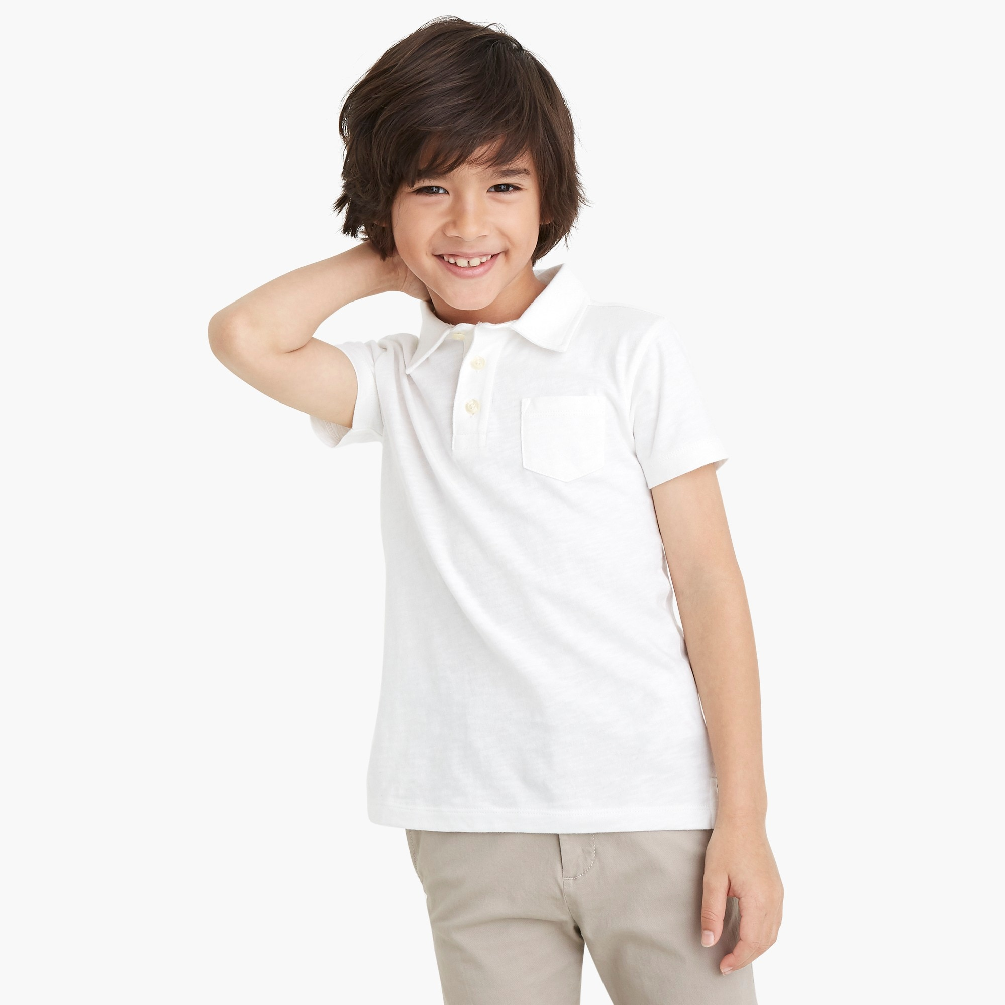 Boys' sunwashed garment-dyed polo shirt factoryboys the camp shop c