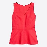 Image 2 for Petite linen-cotton peplum tank top