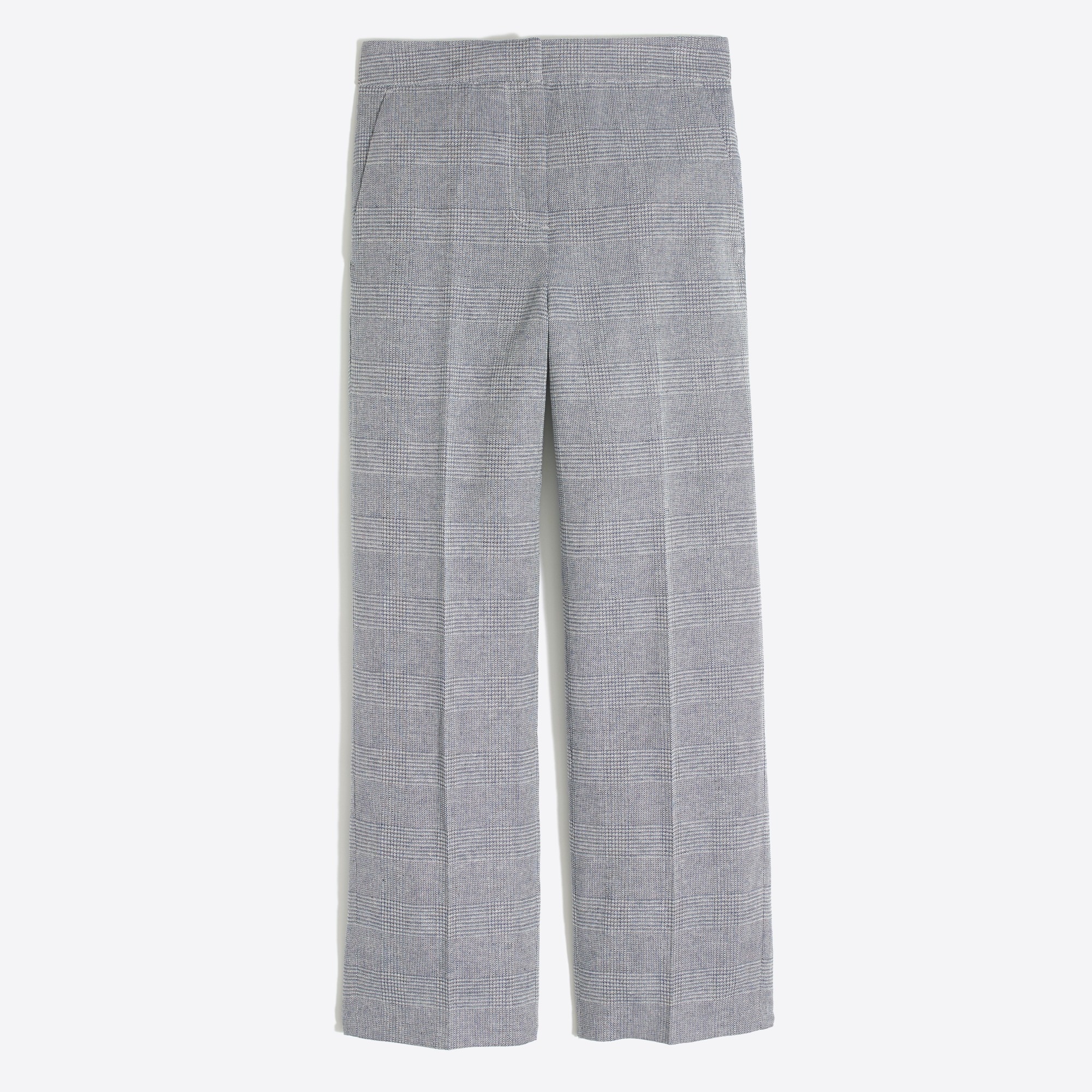 plaid wide-leg pant : factorywomen cropped